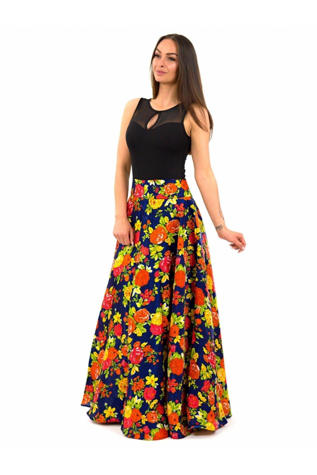 Maxi sukně z pravého přírodního hedvábí Luna