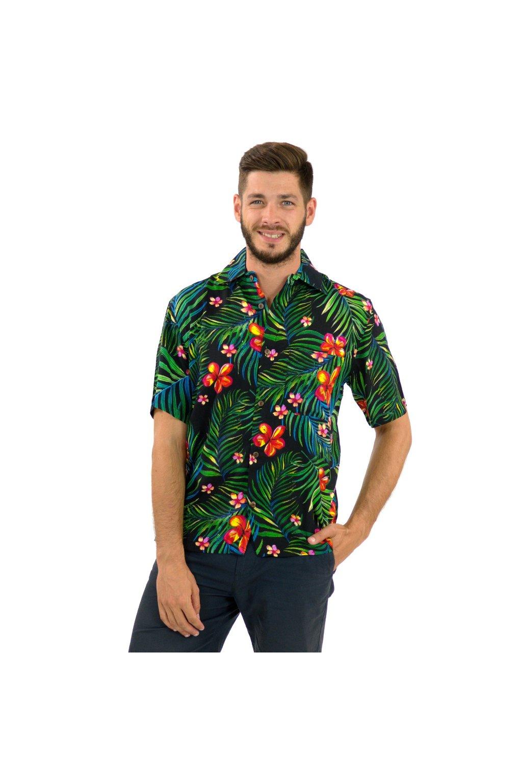 Pánská košile Listy s květy