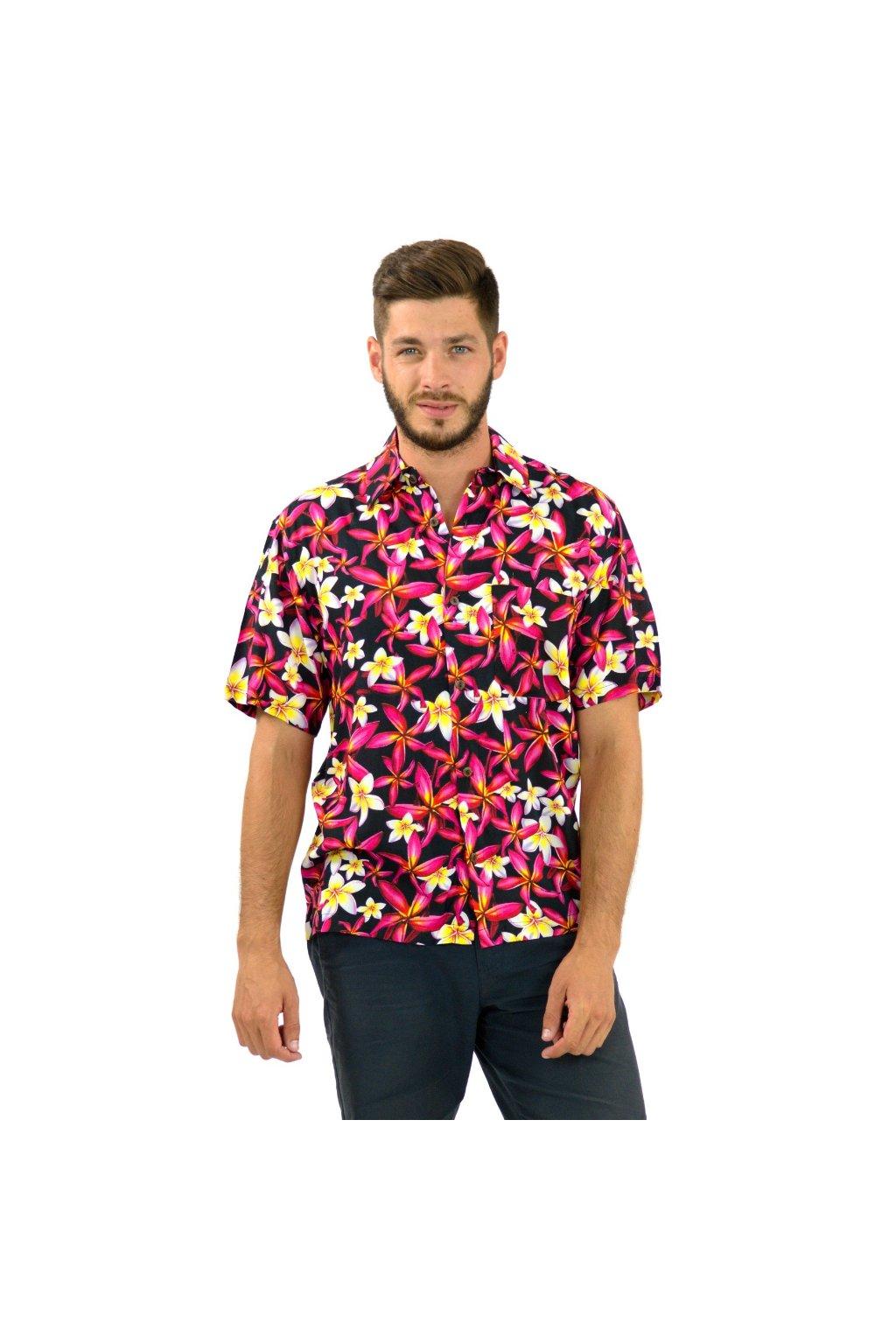 Pánská košile Plumerie - černá