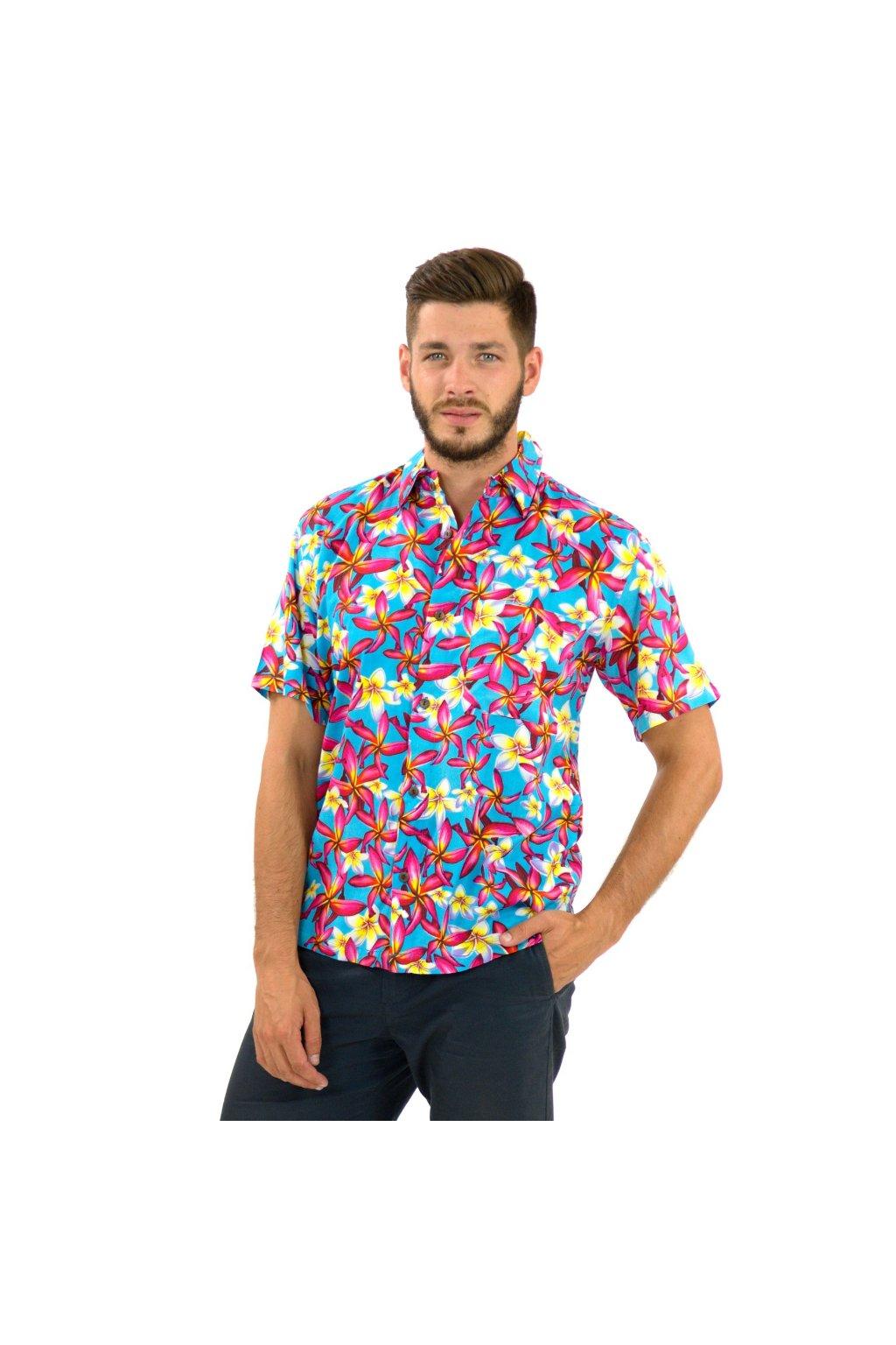 Pánská košile Plumerie - tyrkysová