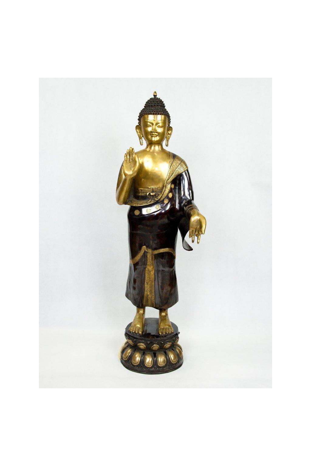 Socha stojící Buddha - velká