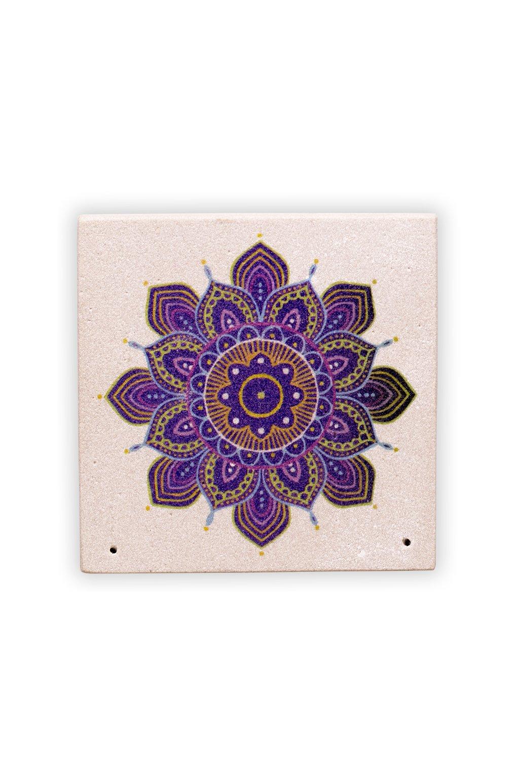 Stojánek na 2 vonné tyčinky - Mandala květ