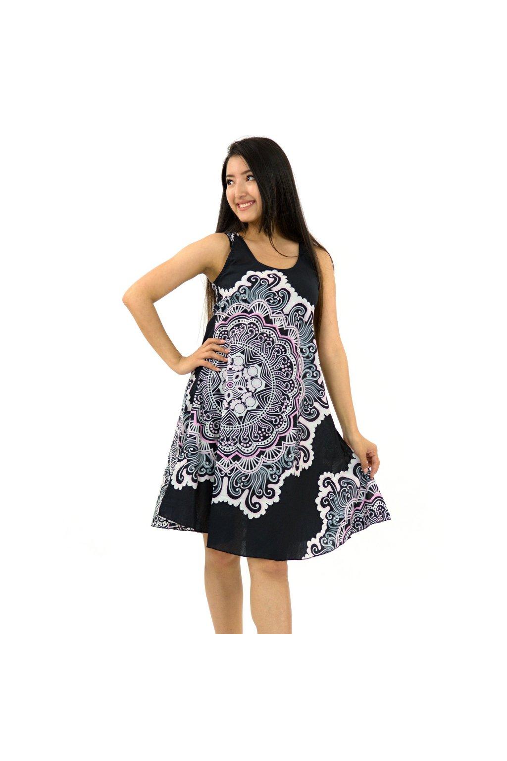 Šaty Ava Sun - černo-bílé