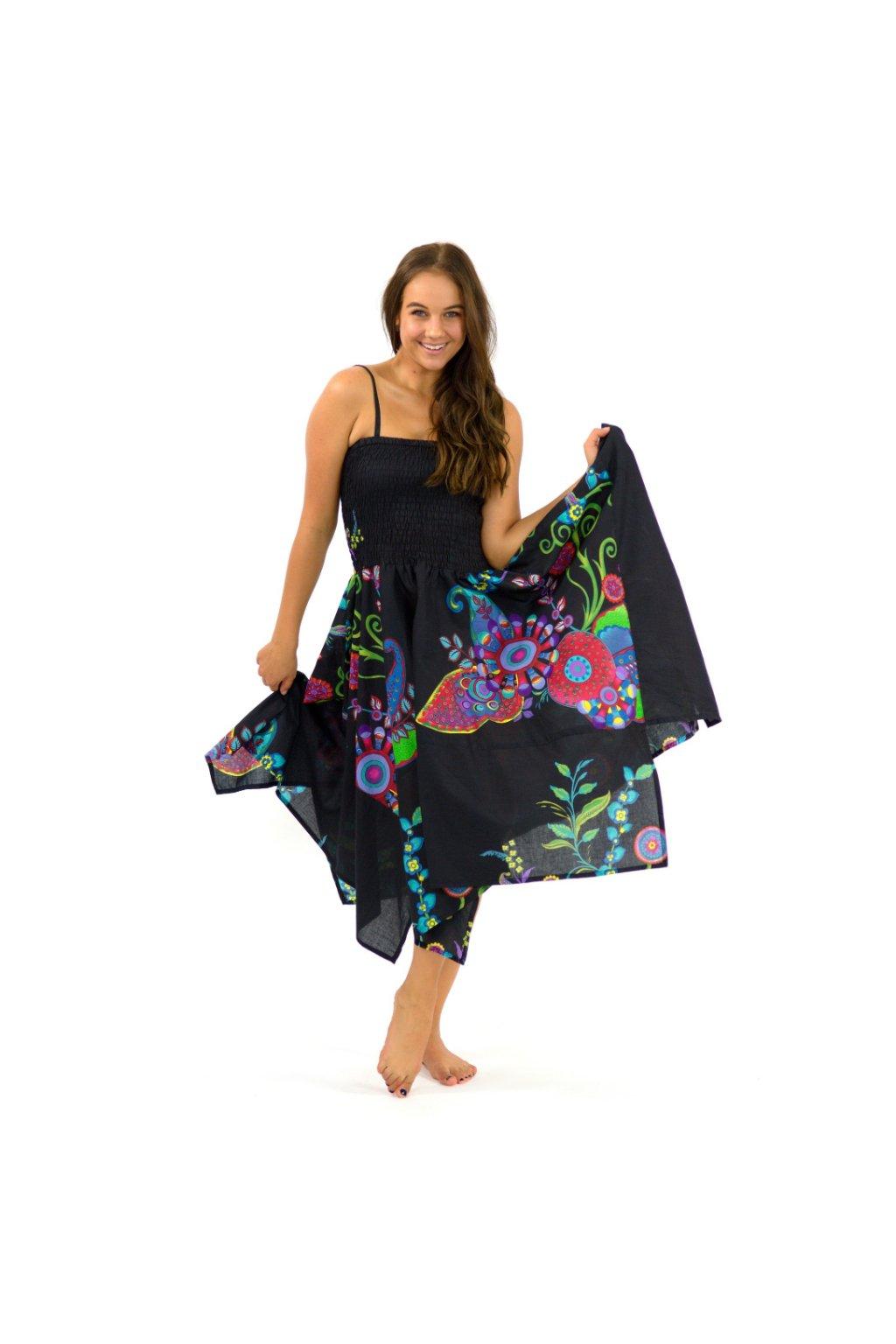 Šaty-sukně 2v1 Dawa Garden - černé