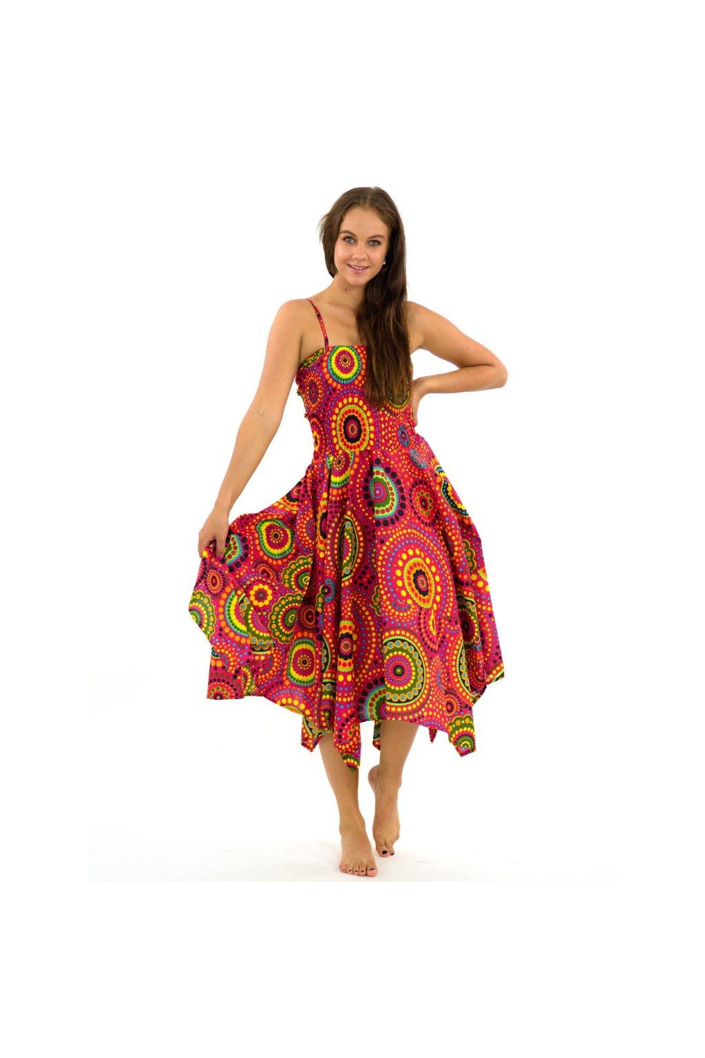 Šaty-sukně 2v1 Dawa Dot - růžové