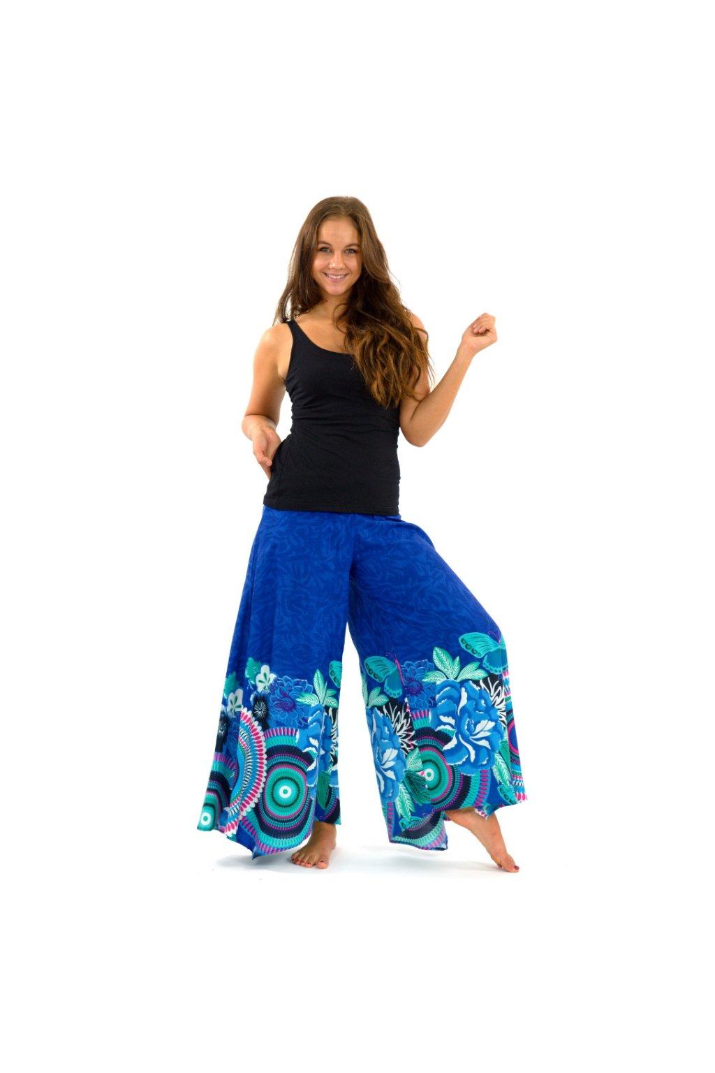 Široké kalhoty Fly - tyrkysové