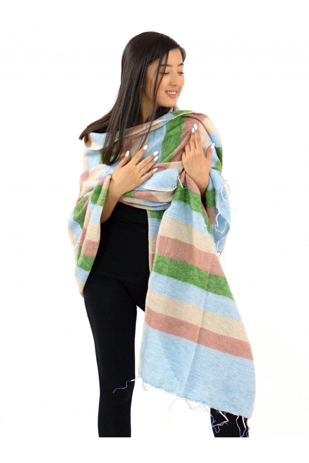 Deka/pléd Yak wool Nepal 32
