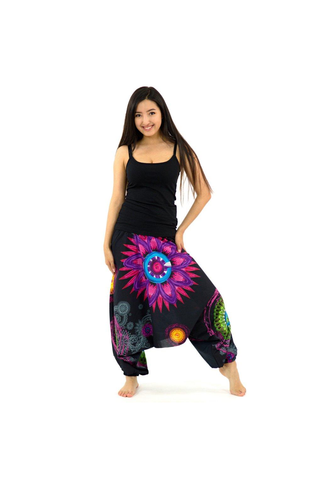 Kalhoty-šaty-top 3v1 Mandala of Nepal - černé