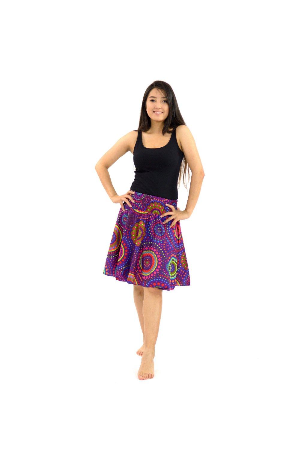 Kolová sukně Dot - fialová