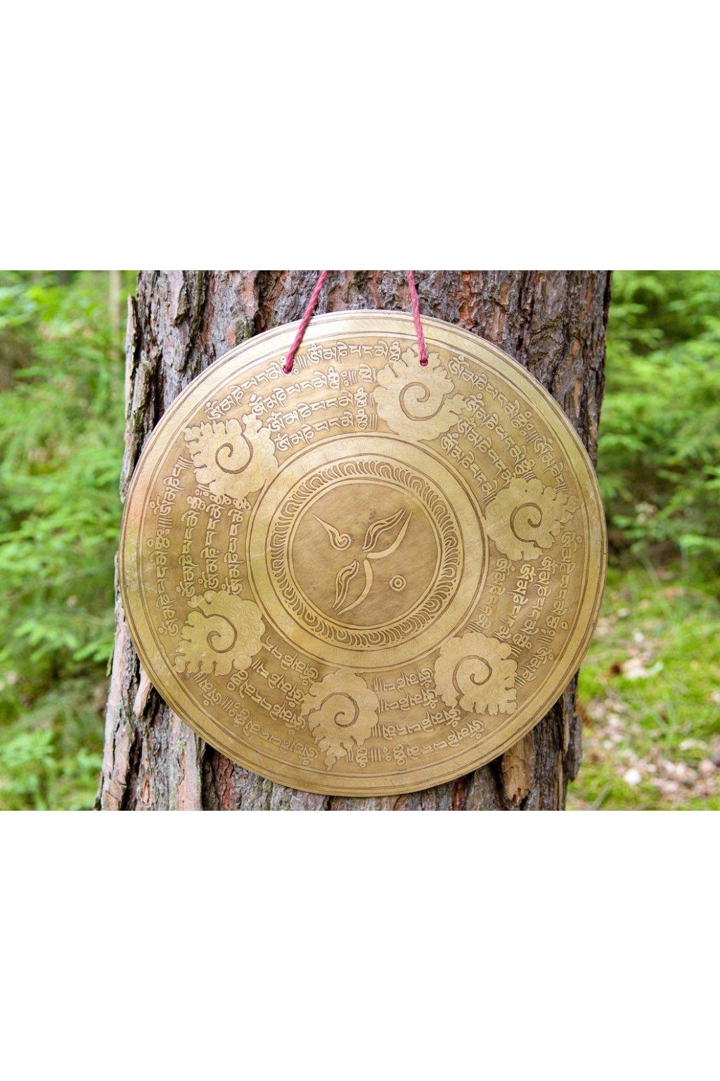 Ručně tepaný gong Nepal
