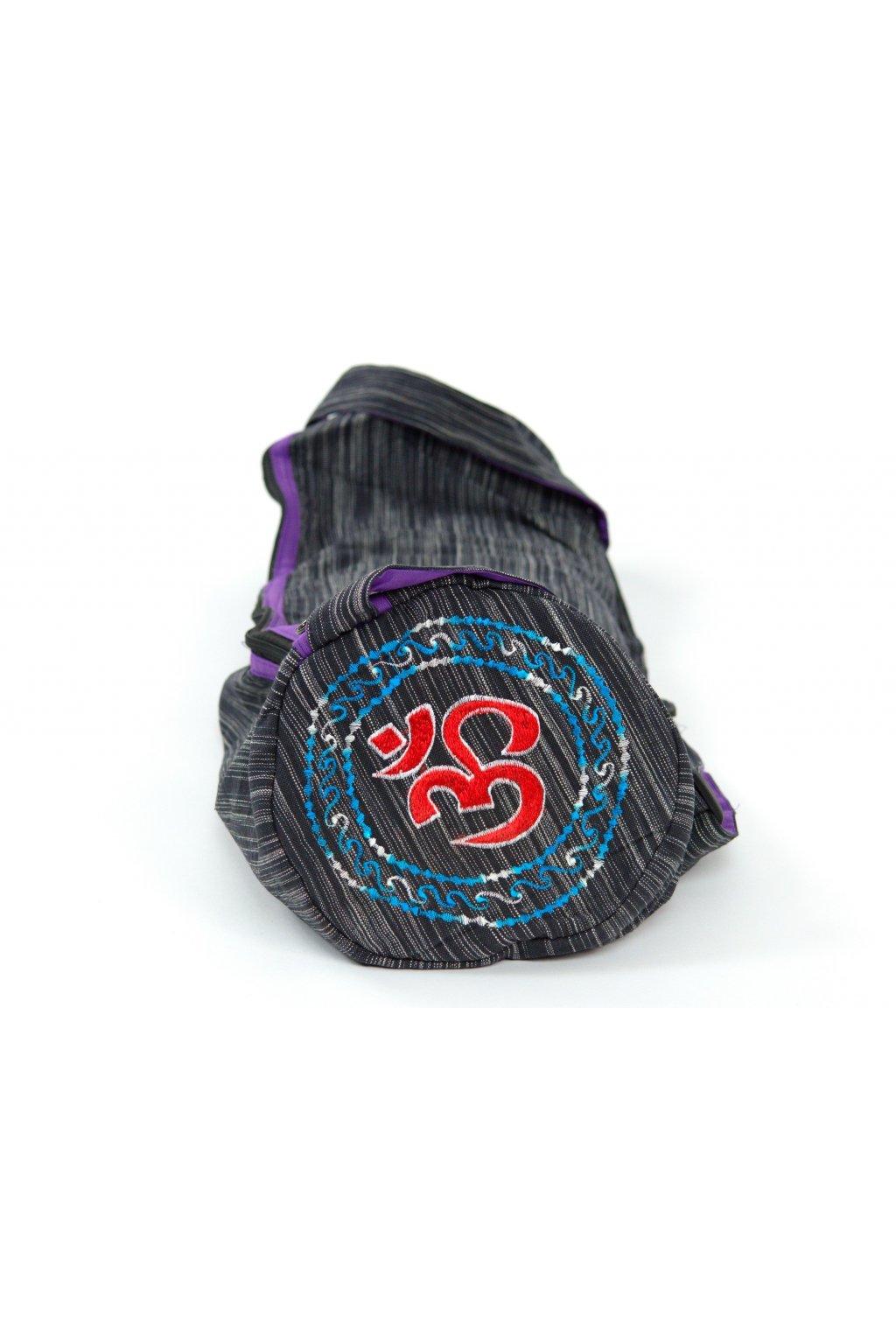 Obal na jógamatku OHM - černá s šedou