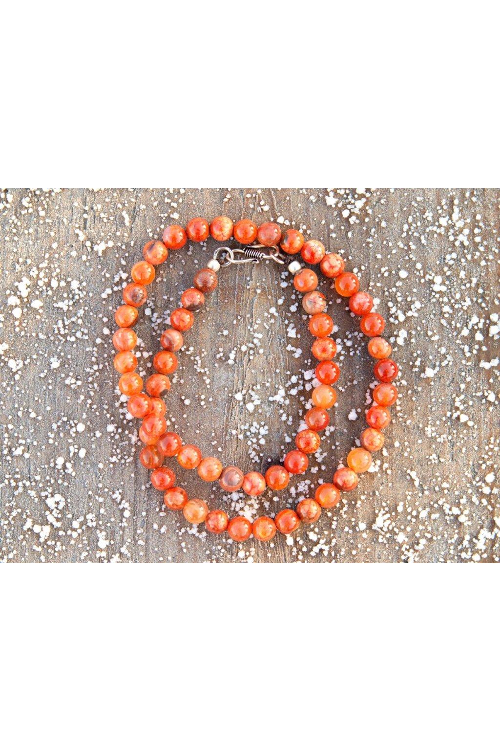 Energetický náhrdelník - achát oranžový