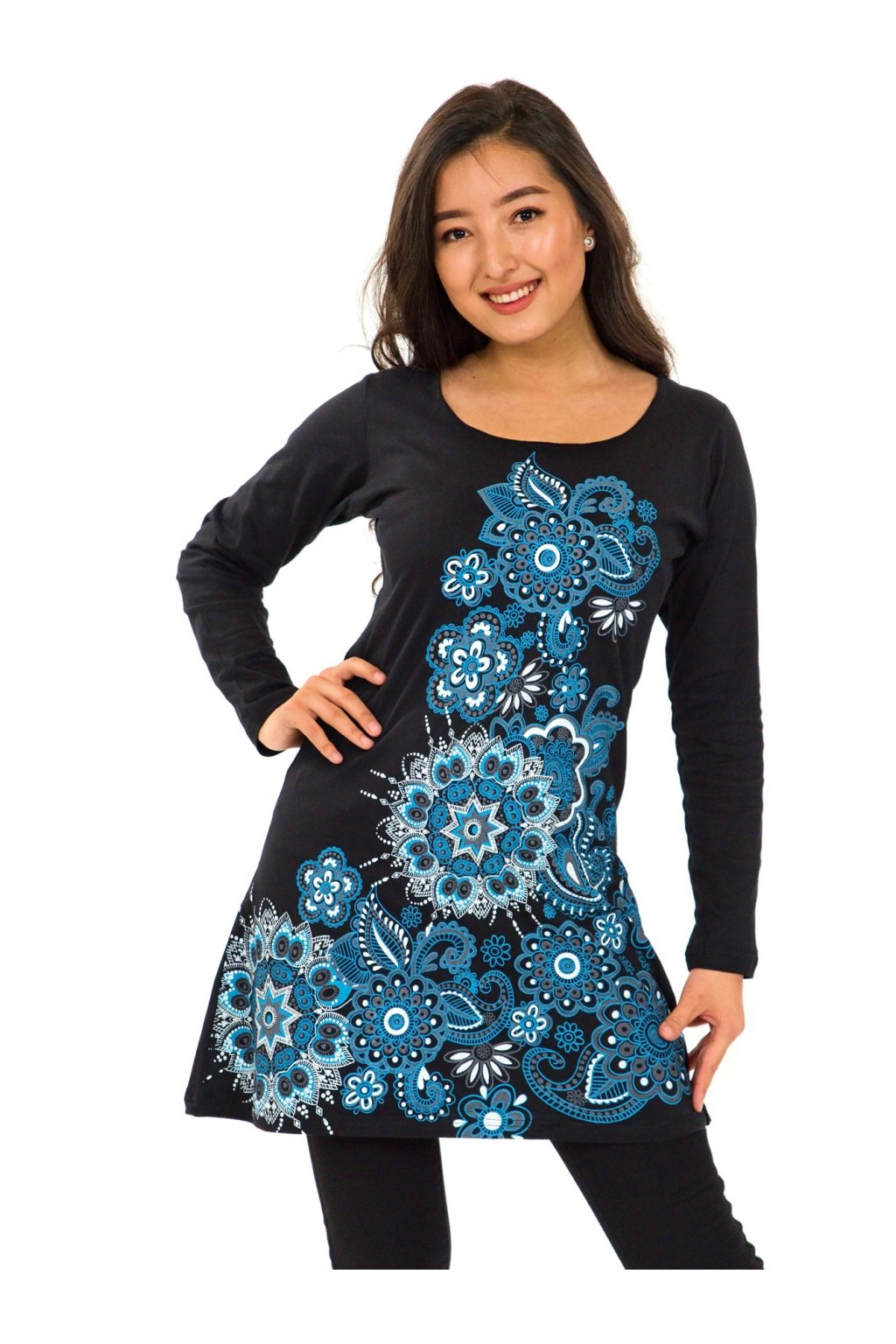 Šaty-sukně 2v1 Dawa Mandala - tyrkysová