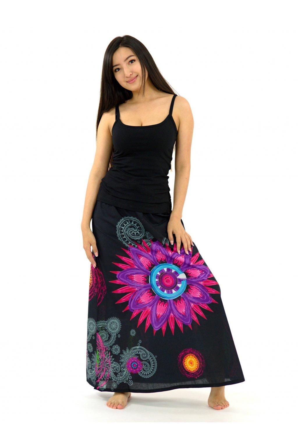 Dlouhá sukně Mandala of Nepal - černá