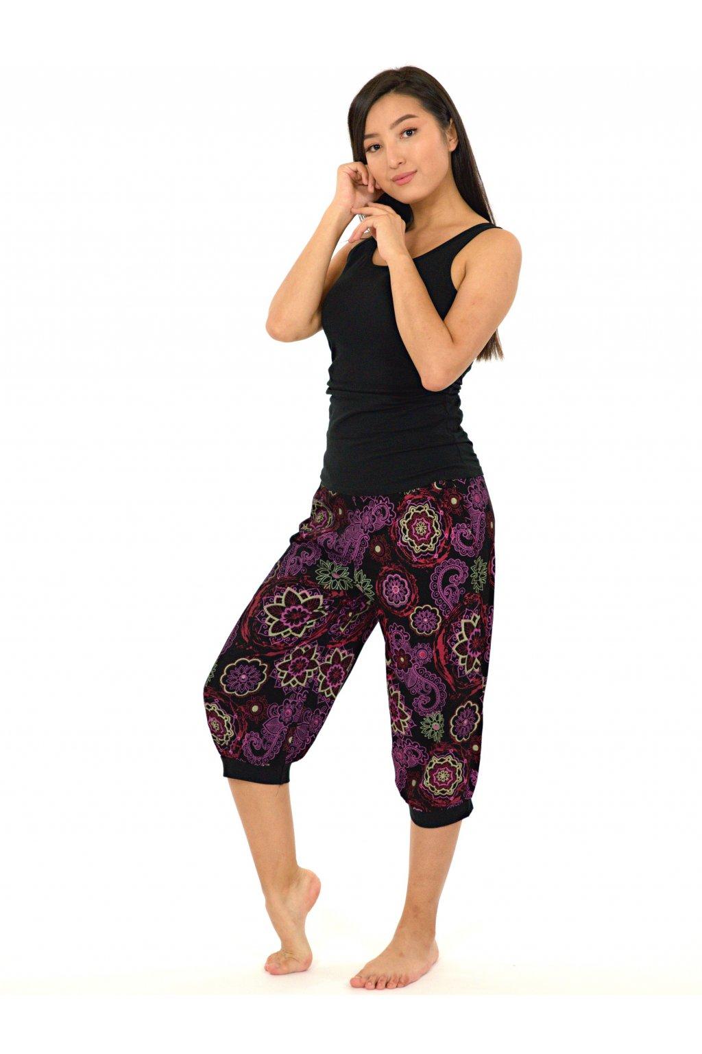 Kraťasy Halenui - černé s růžovou