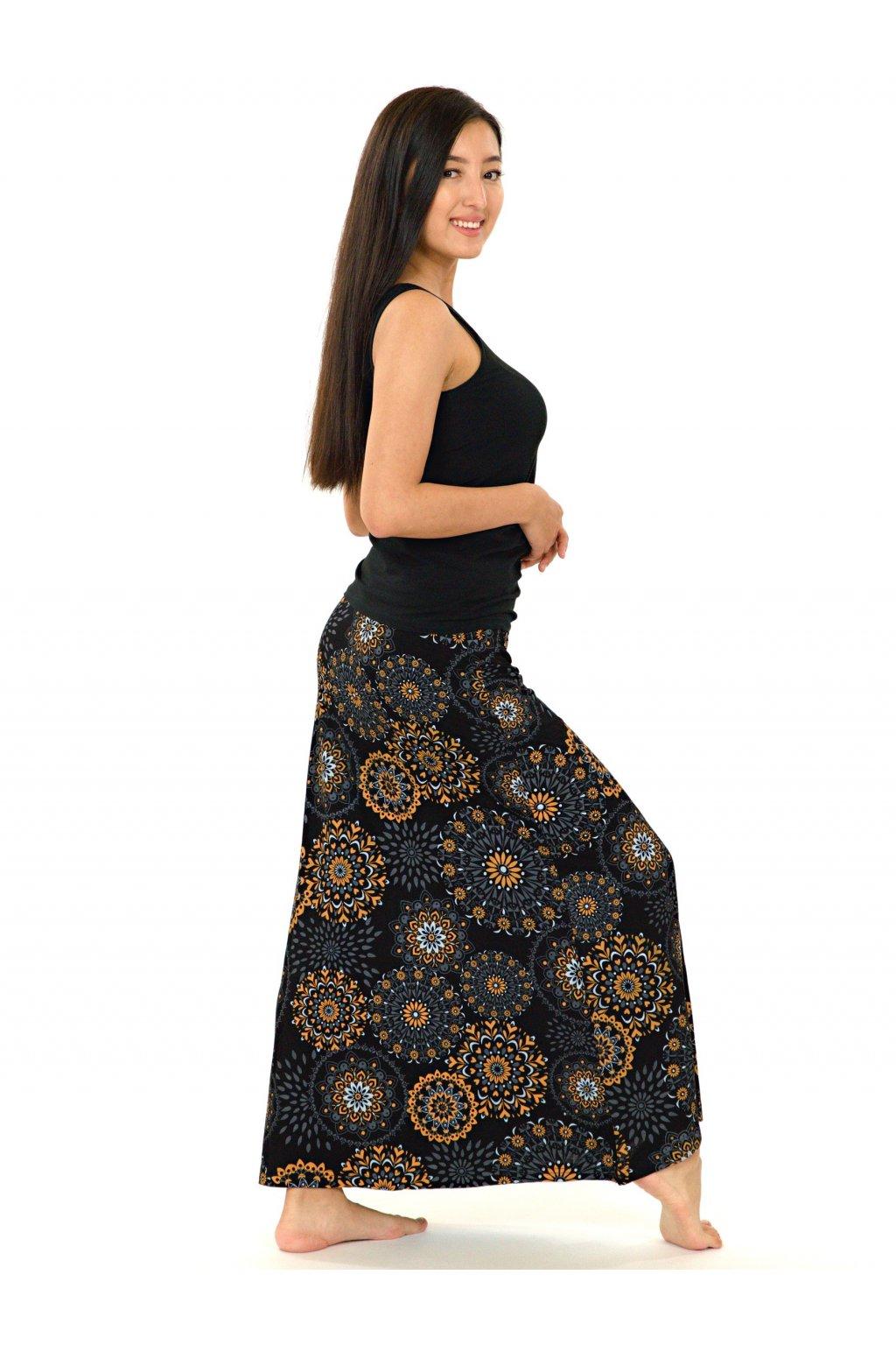 Dlouhá sukně Wahine - černá s béžovou