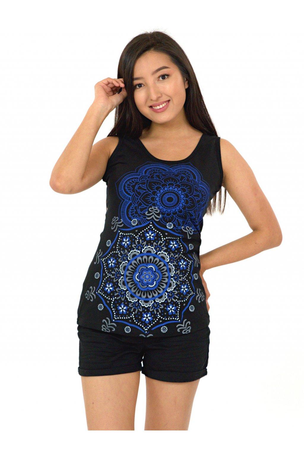 Tílko Haleiwa - černá s modrou