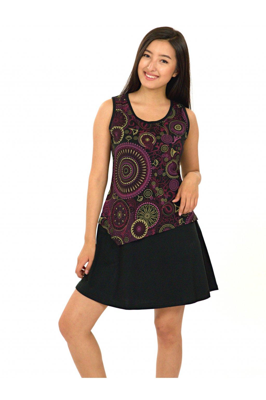 Šaty Maruru - černá s růžovou