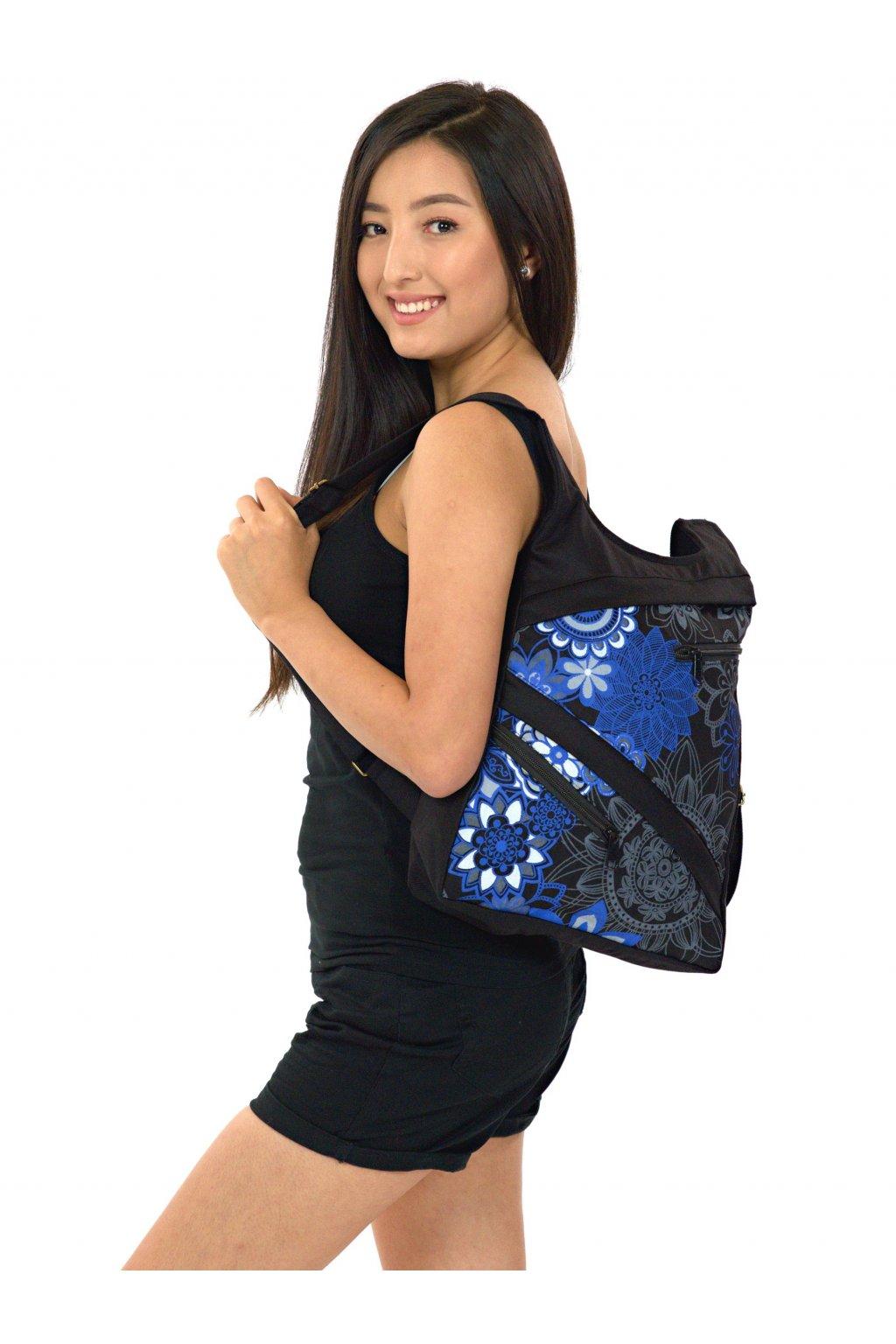 Batoh Heiia - černá s modrou