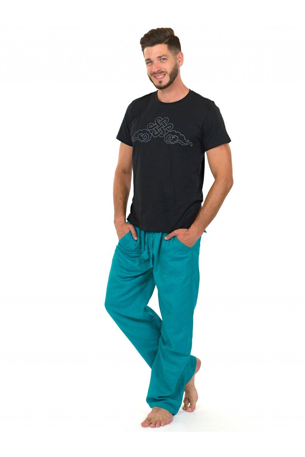 Kalhoty Keanu - tyrkysové