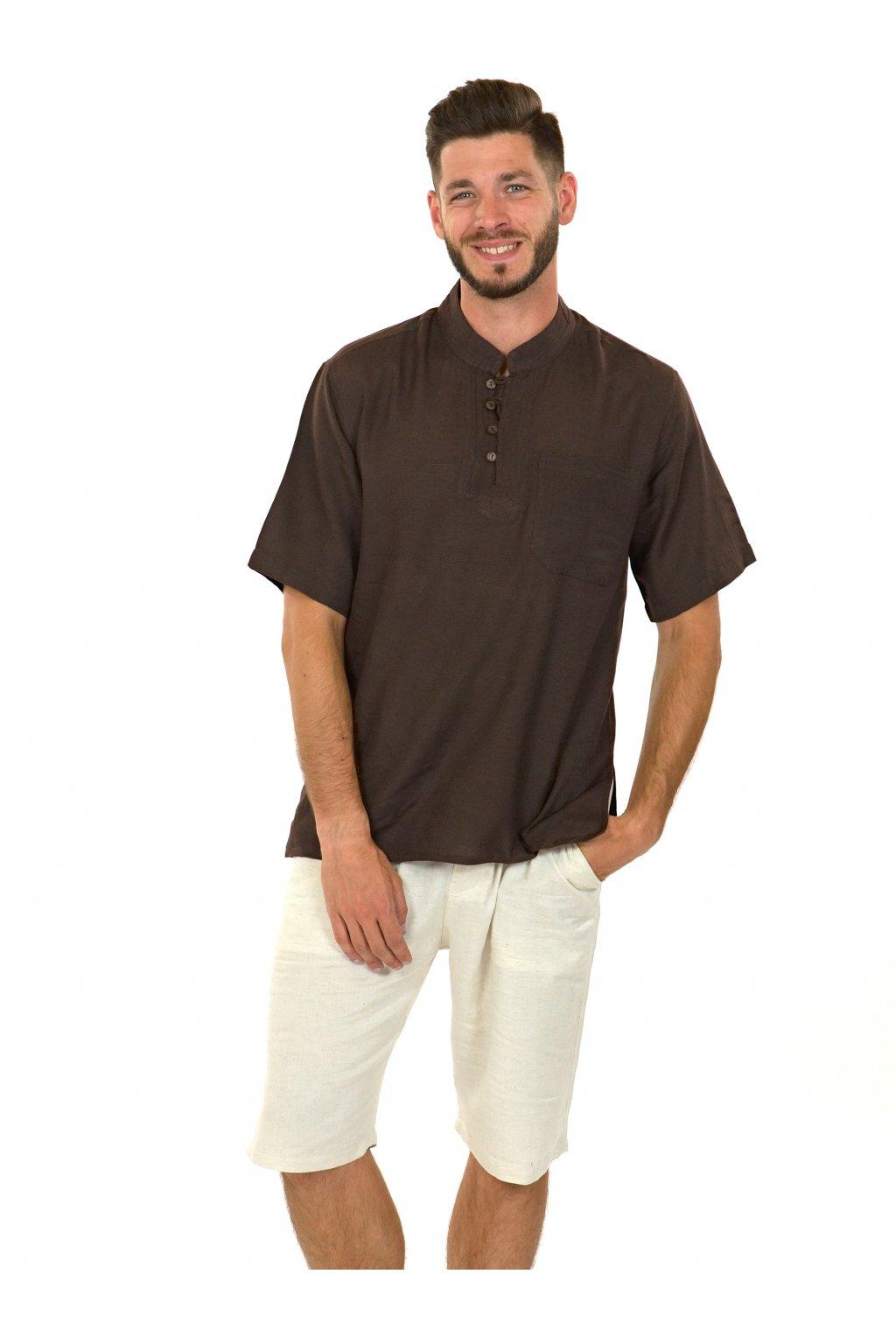 Pánská košile Kahuna - hnědá
