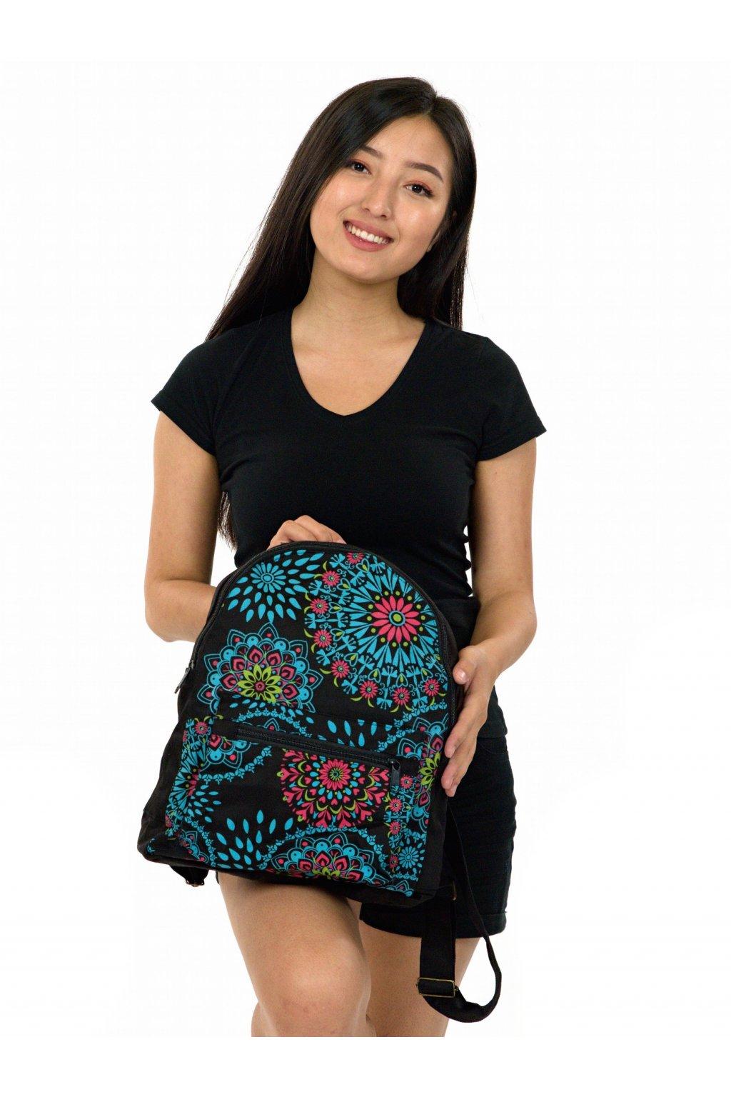Batoh Molokai - černá s barvami