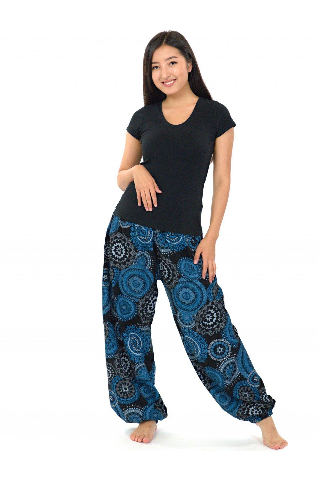 Kalhoty Hanahou - černá s modrou