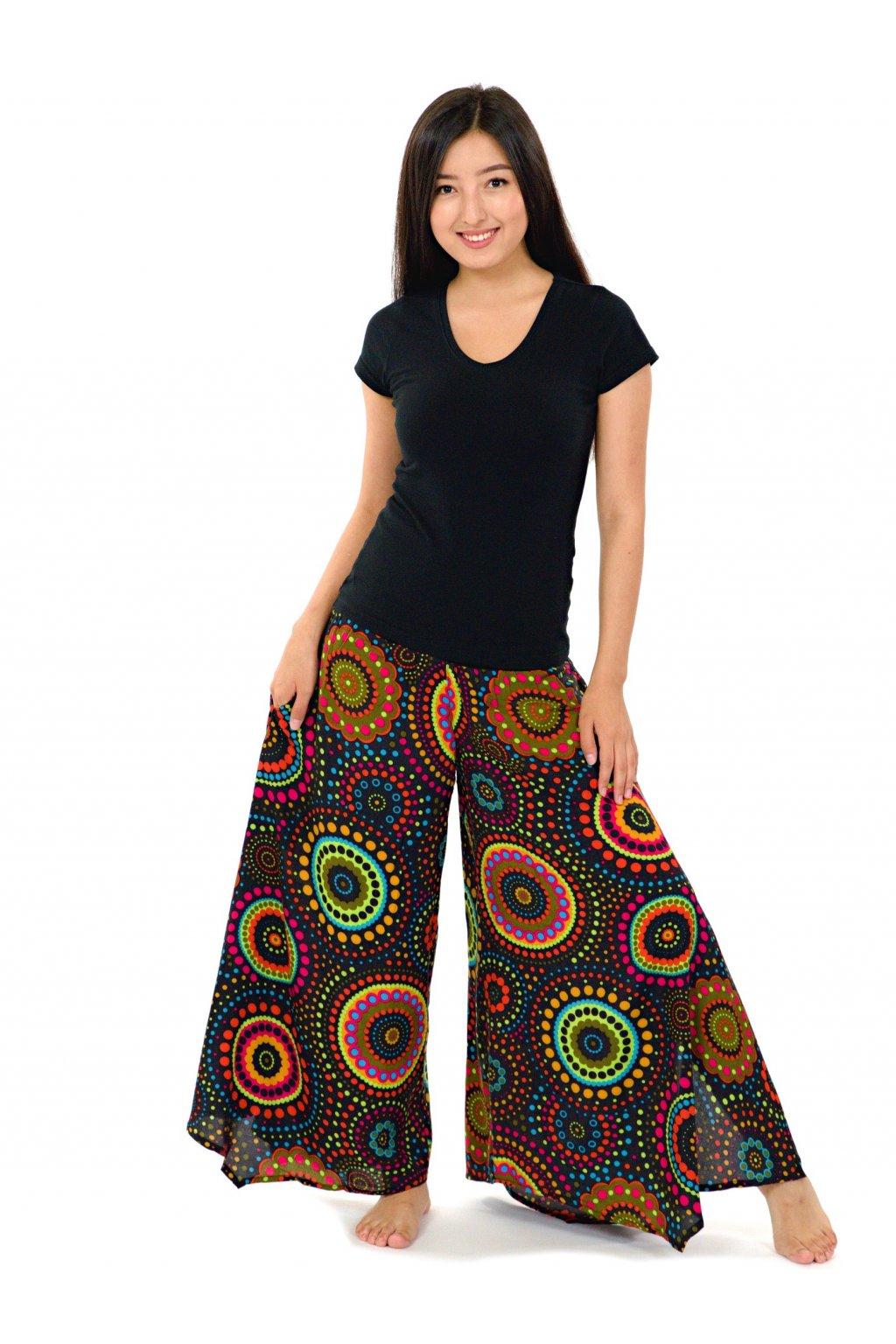 Široké kalhoty Dot - černé