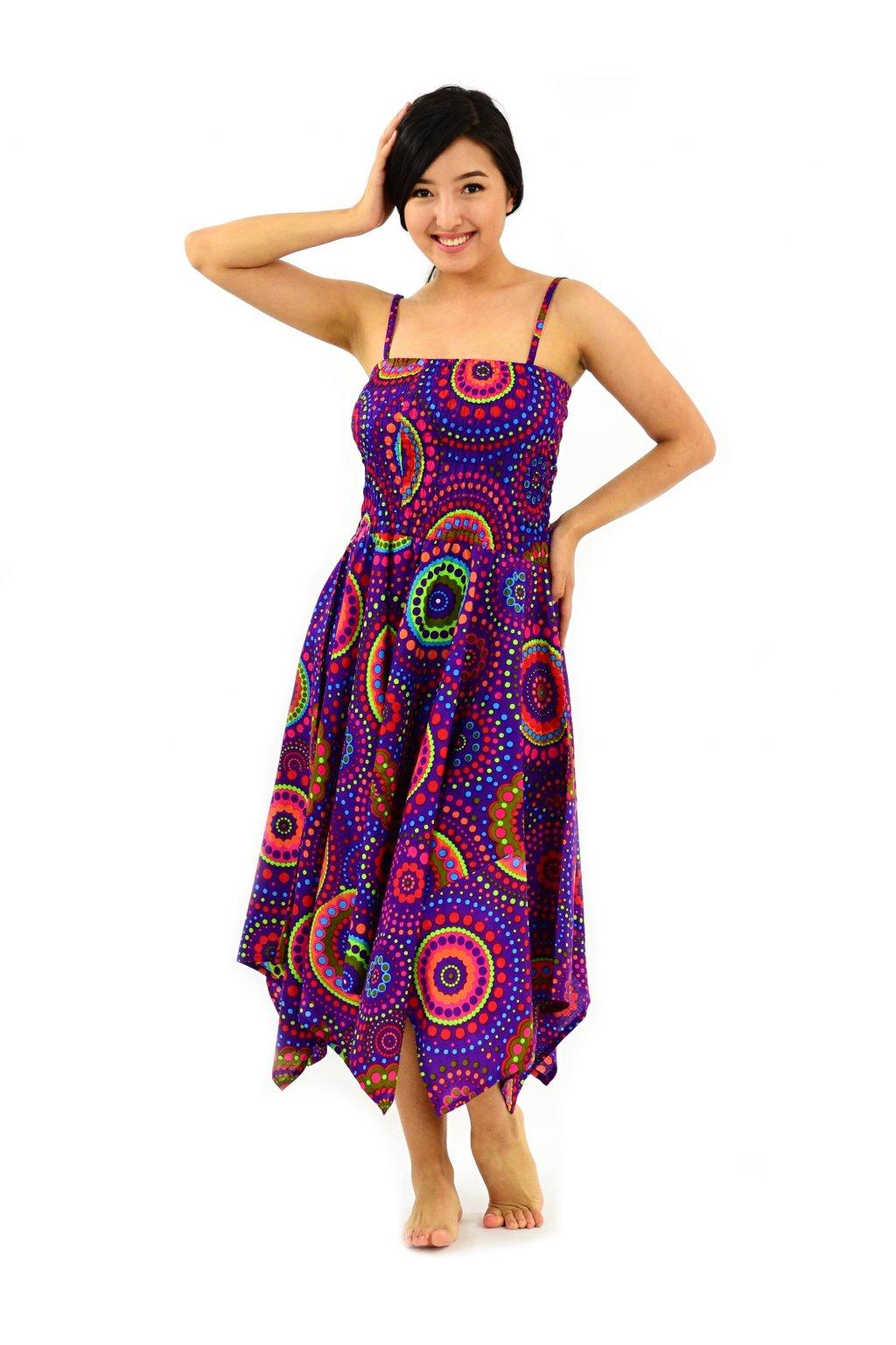 Šaty-sukně 2v1 Dawa Dot - fialové