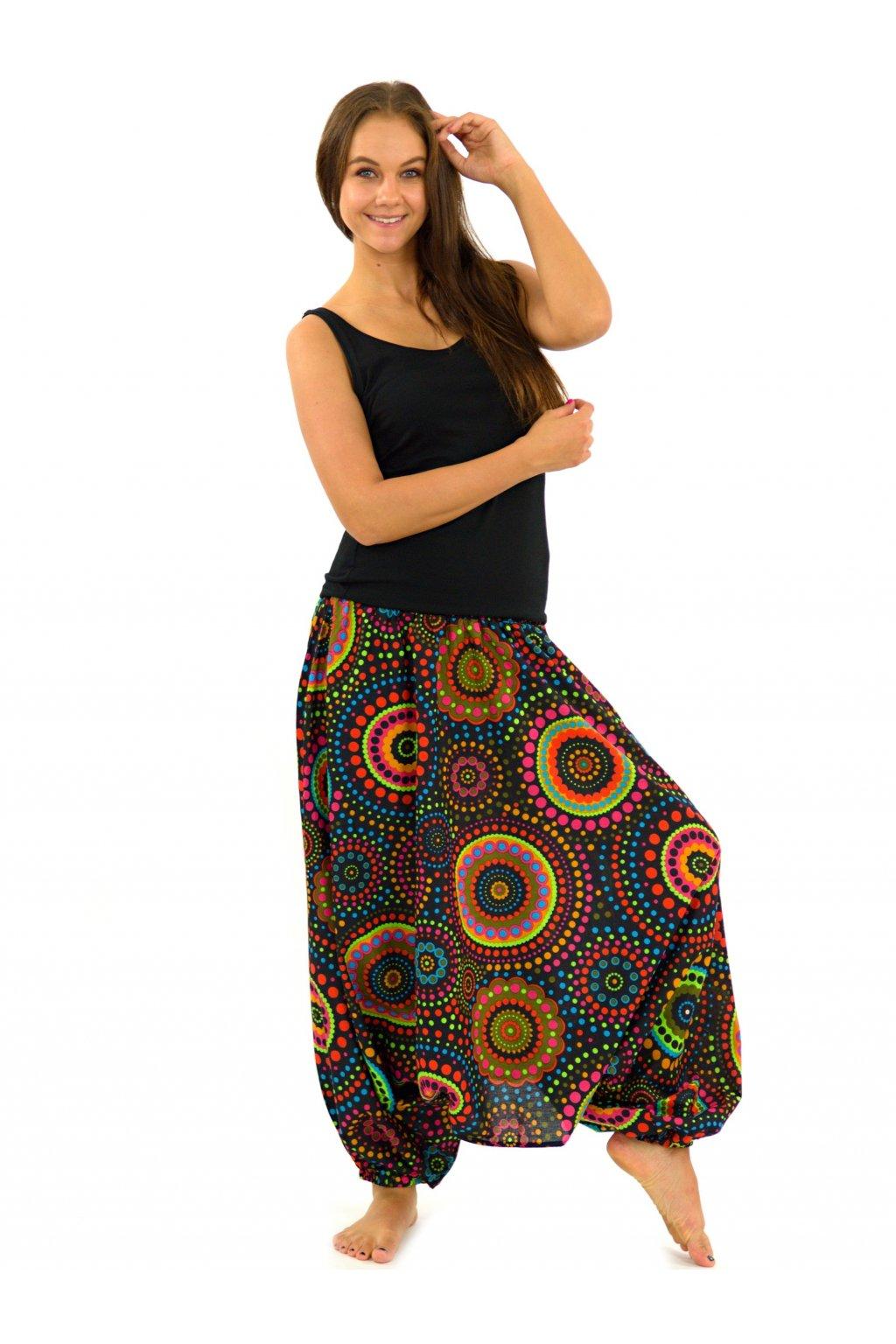 Kalhoty-šaty-top 3v1 Dot - černé