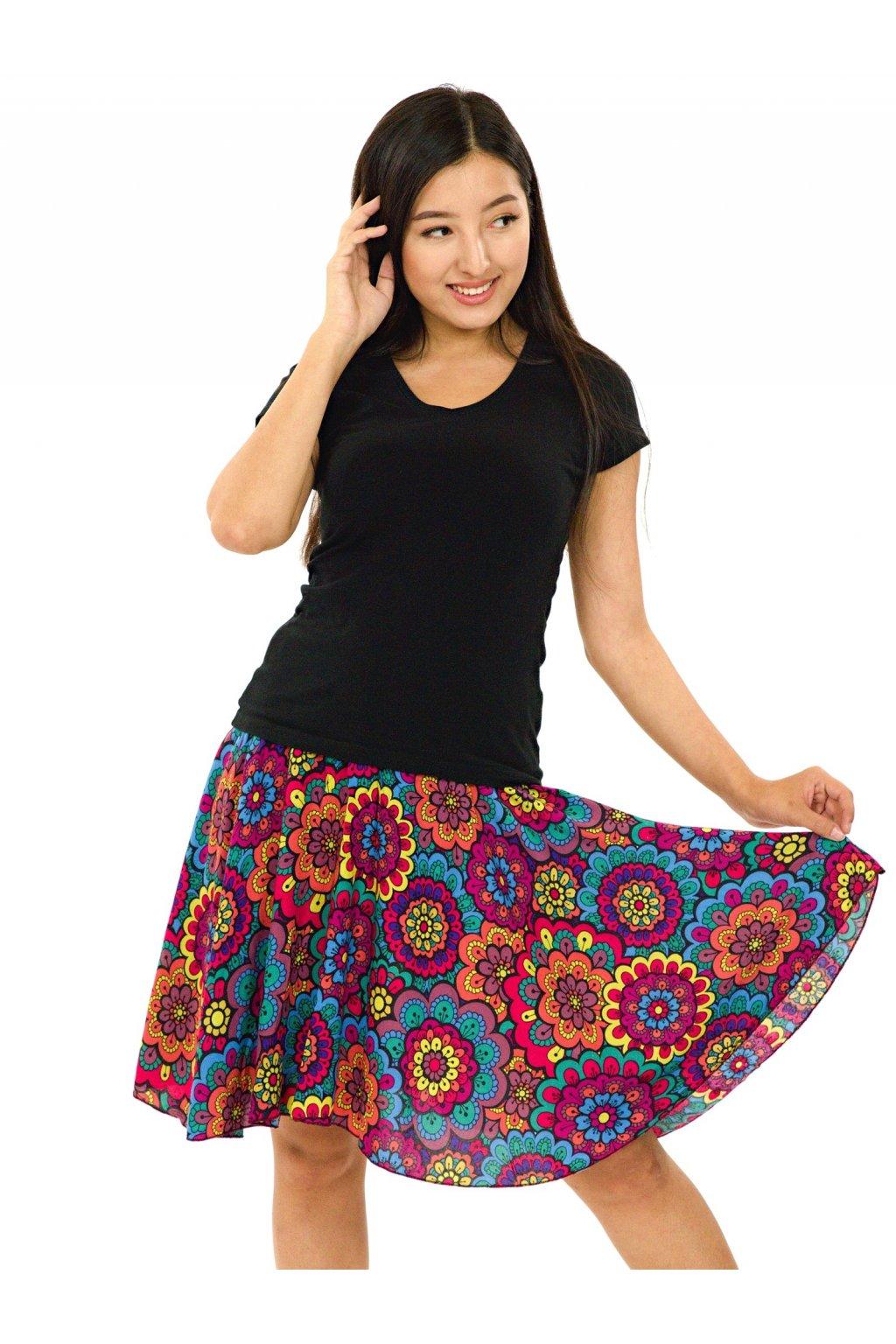 Kolová sukně Makani - barevná