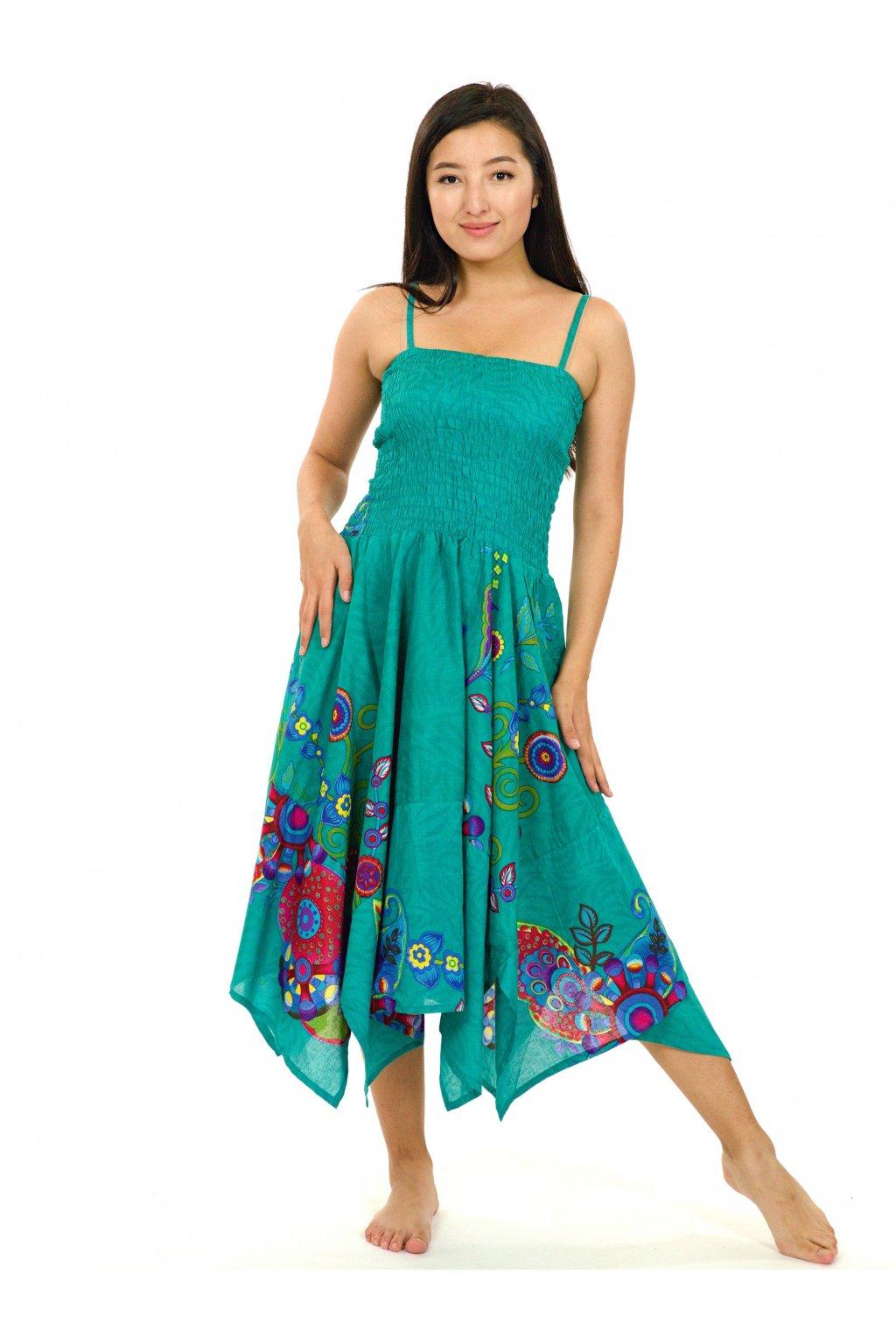 Šaty-sukně 2v1 Dawa Garden - tyrkysové