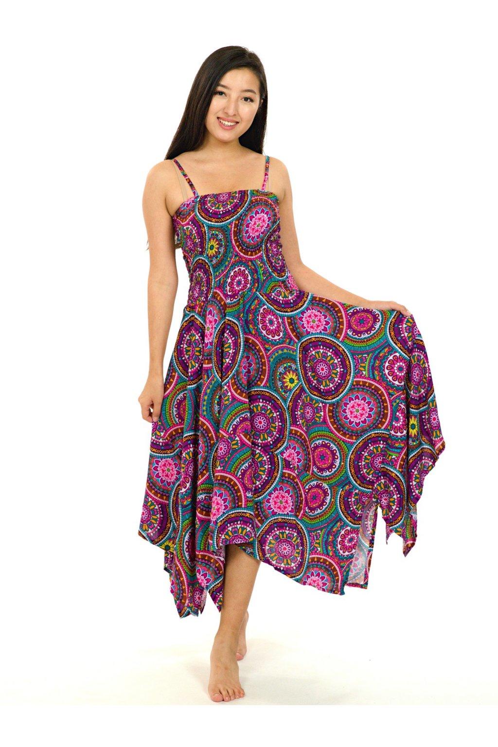 Šaty-sukně 2v1 Dawa Tehani - barevné