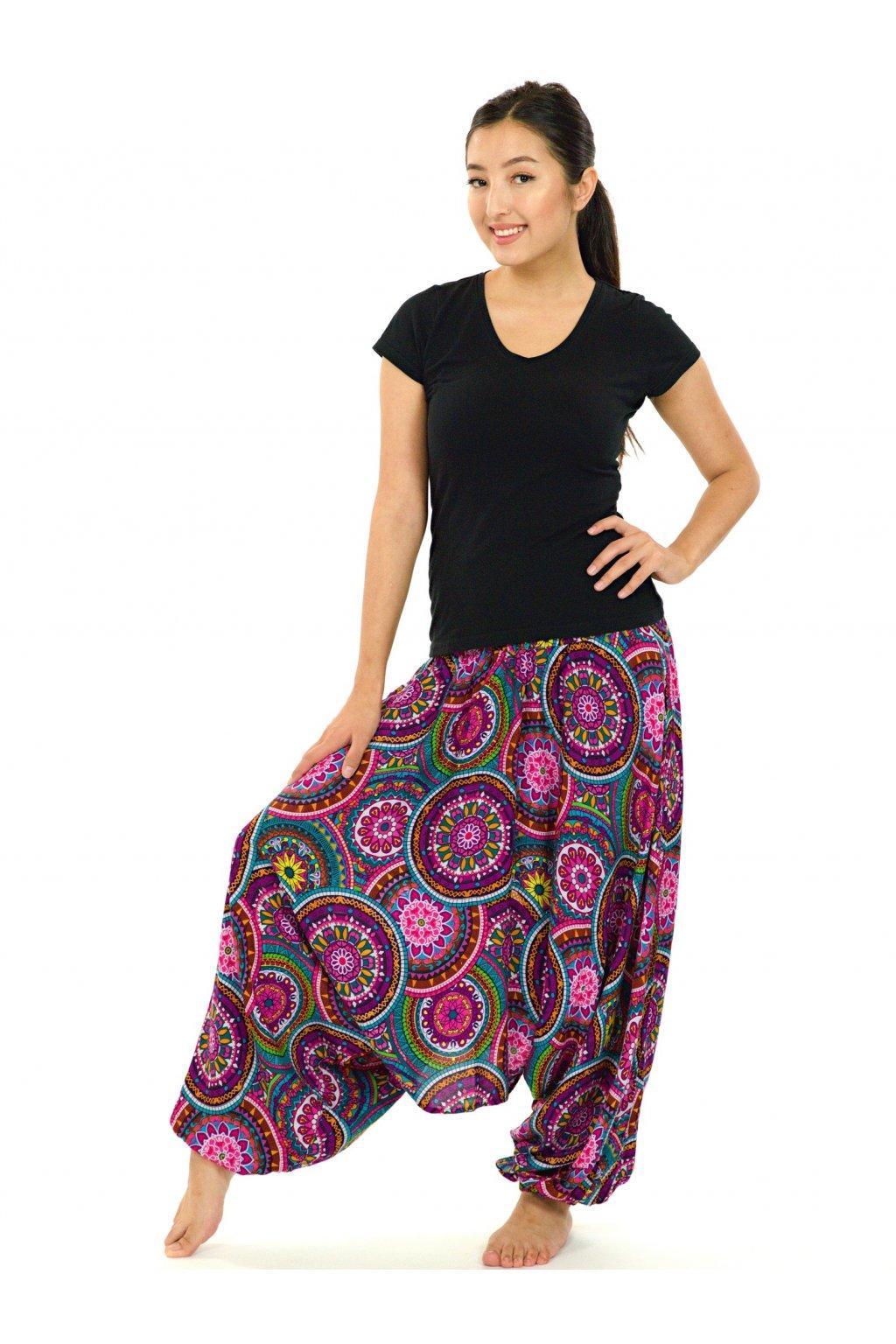 Kalhoty-šaty-top 3v1 Tehani - barevné