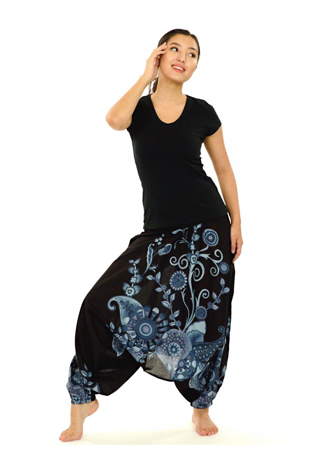 Kalhoty-šaty-top 3v1 Garden of Nepal - černé s šedou