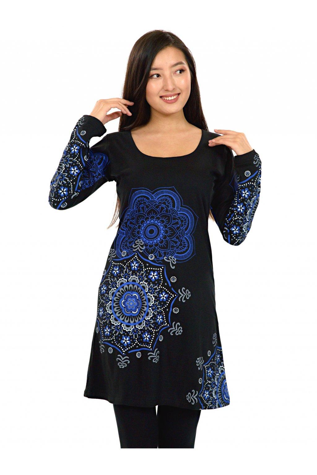 Tunika / šaty Noelani - černá s modrou