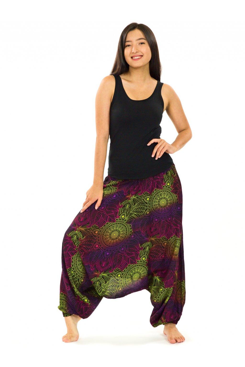 Kalhoty-šaty-top 3v1 Kailani - růžové se žlutou