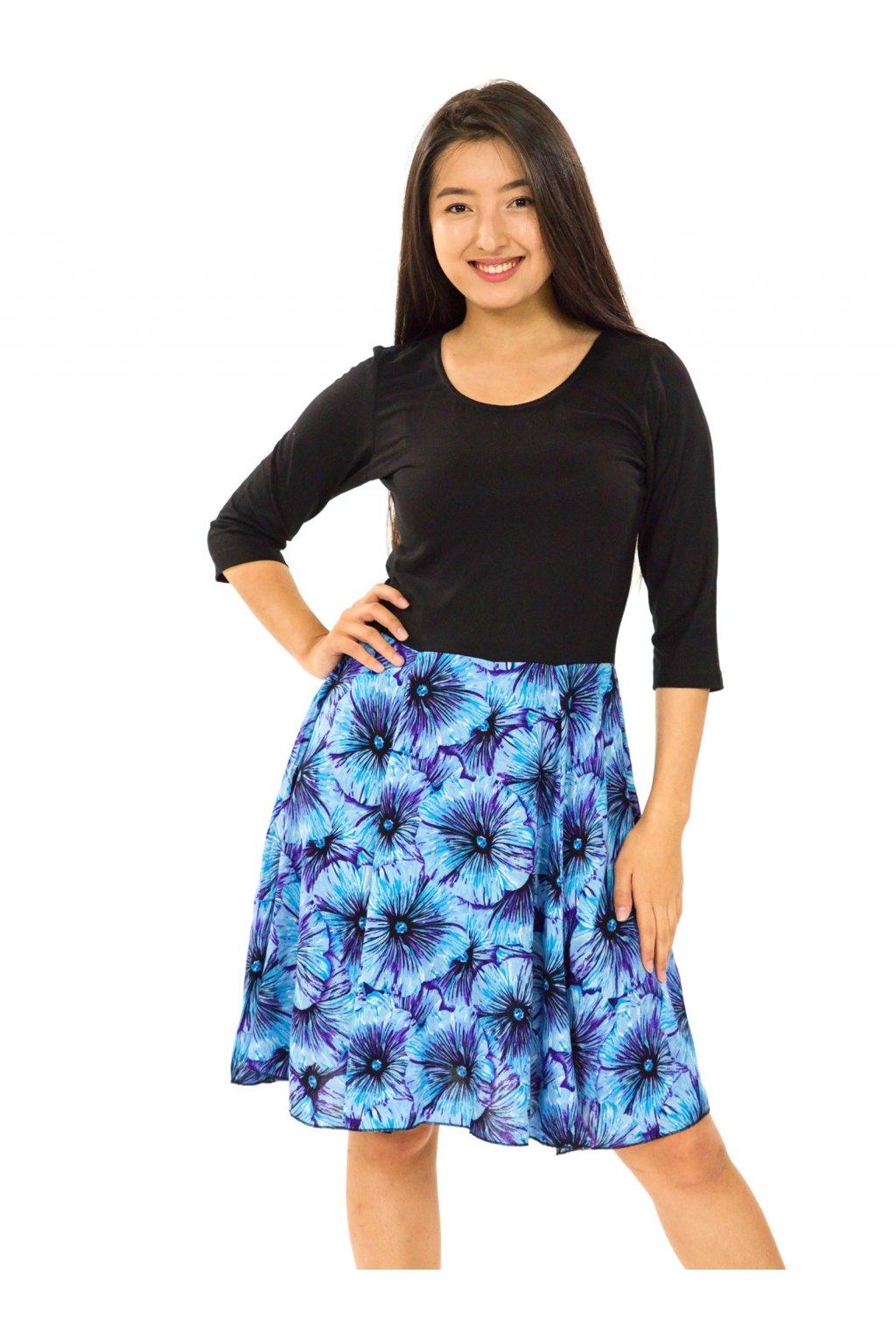 Šaty Lanai s 3/4 rukávem - tyrkysové