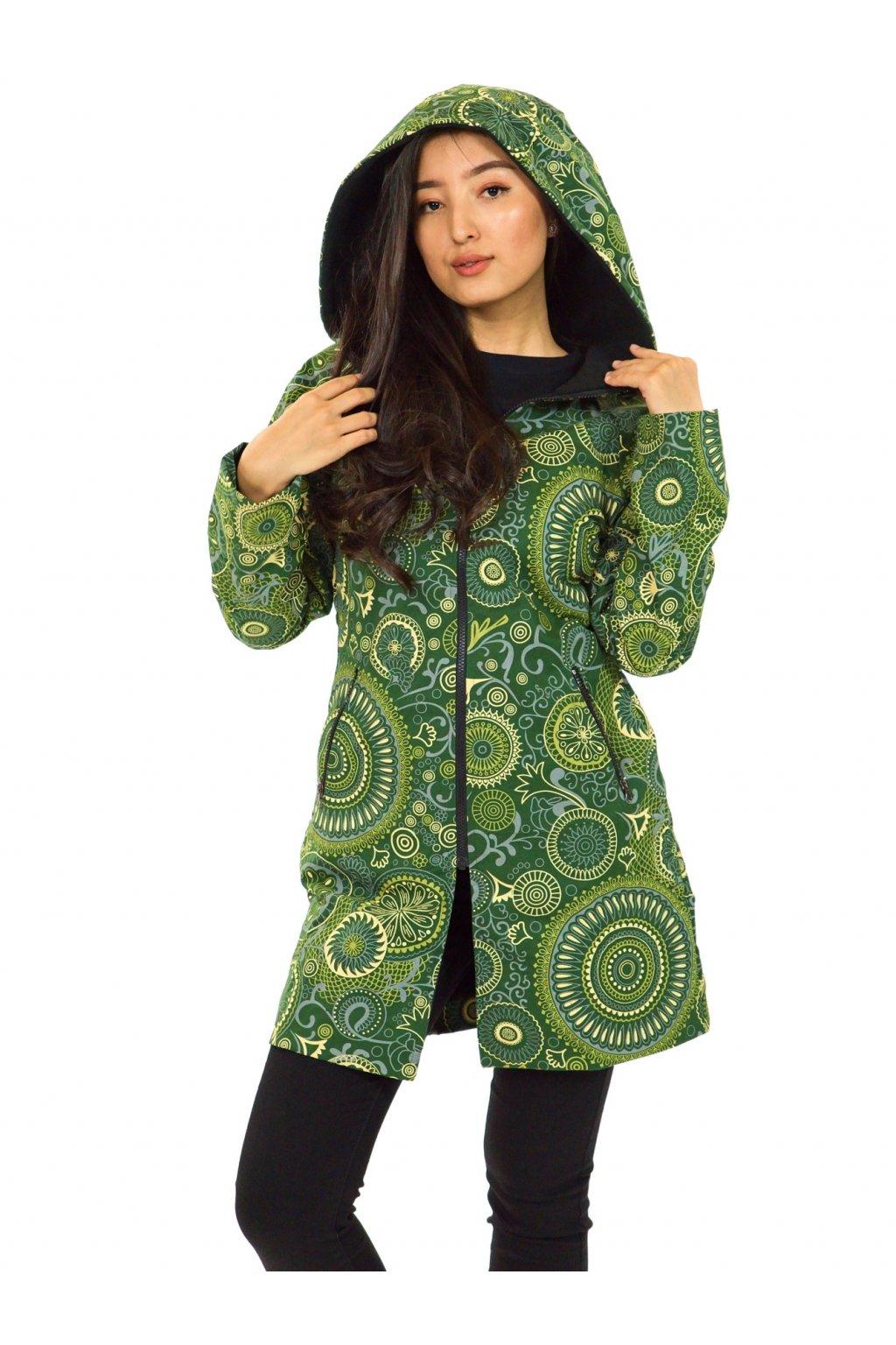 Podzimní/zimní kabát Hiva - zelený