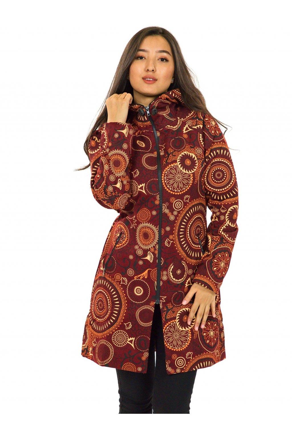 Podzimní/zimní kabát Hiva - vínová