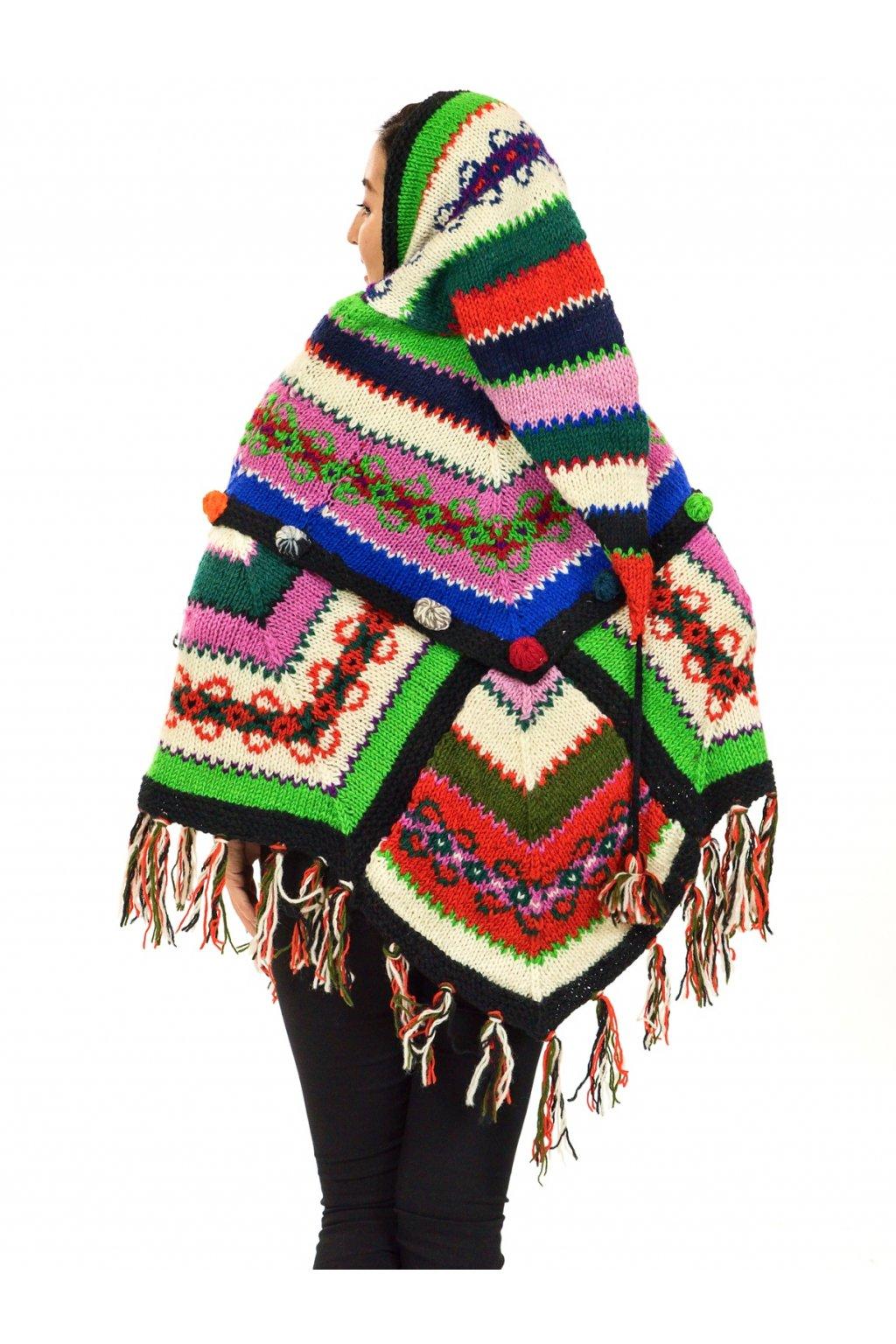 Pletené vlněné pončo Lalita 37
