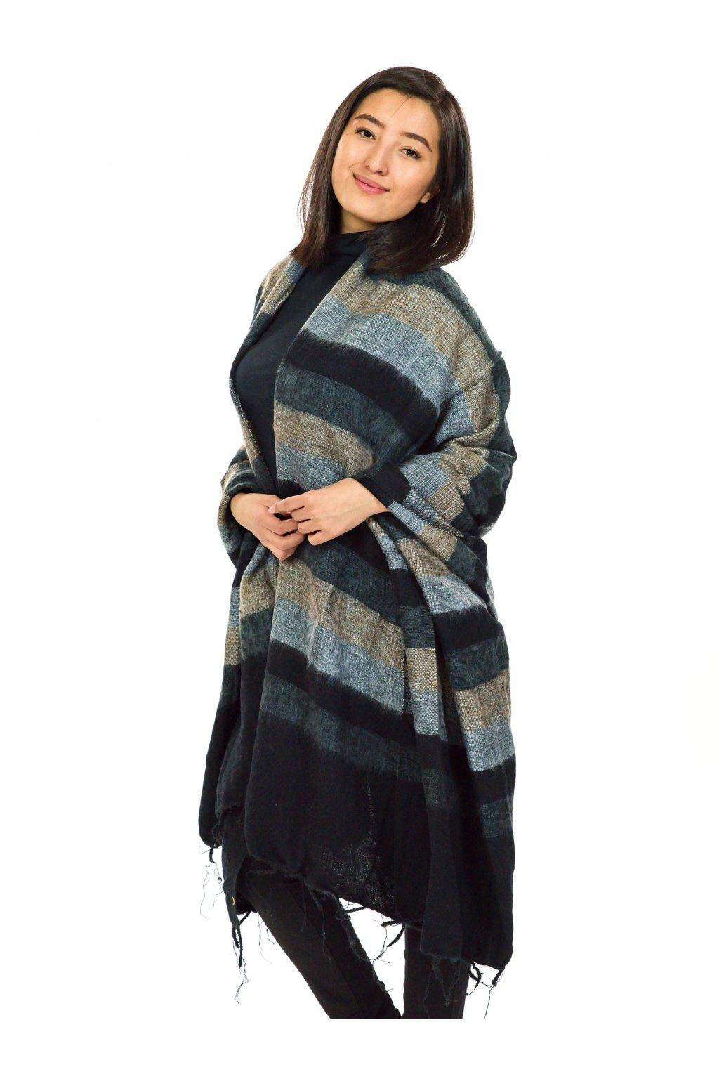 Deka/pléd Yak wool Nepal 54