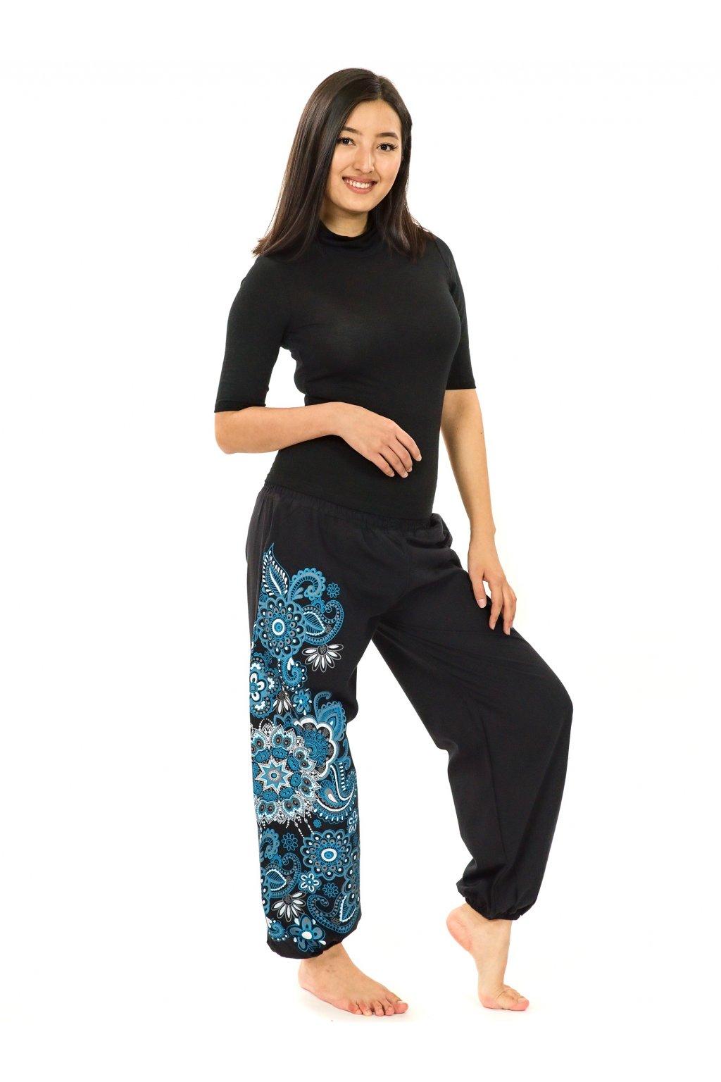 Kalhoty Hanauma - černá s modrou