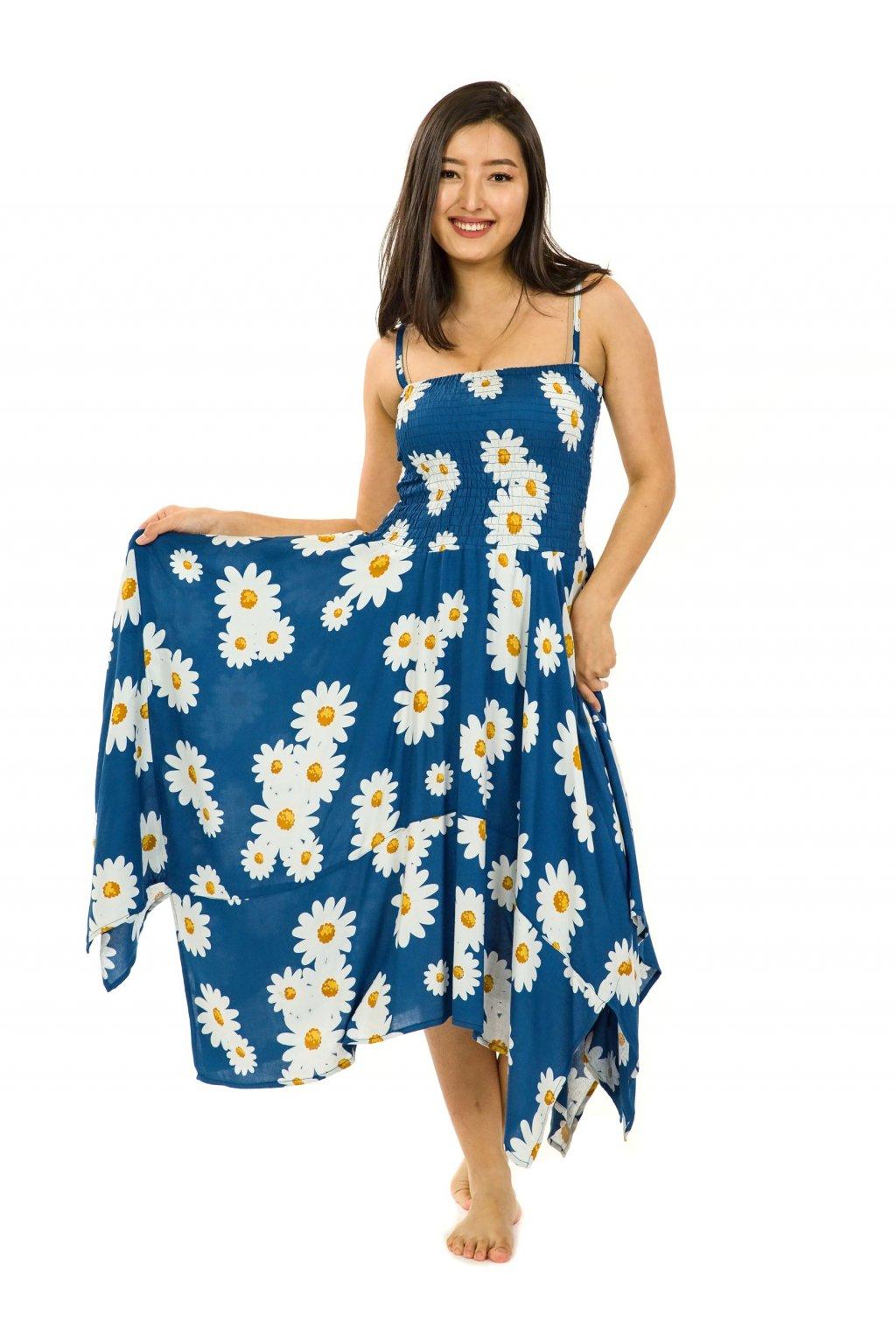 Šaty-sukně 2v1 Dawa Kopretina - modrá
