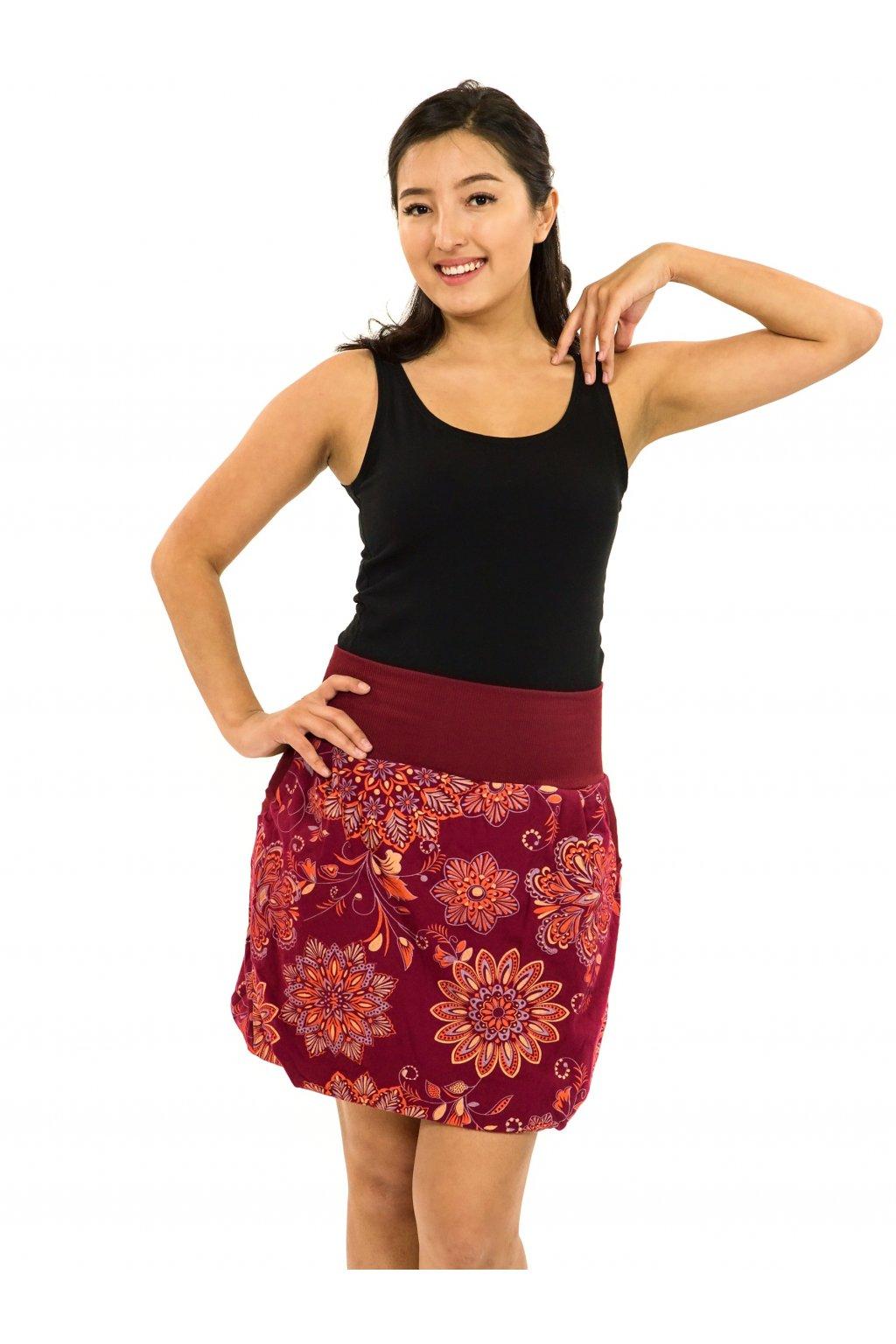 Balonová sukně Madia - vínová