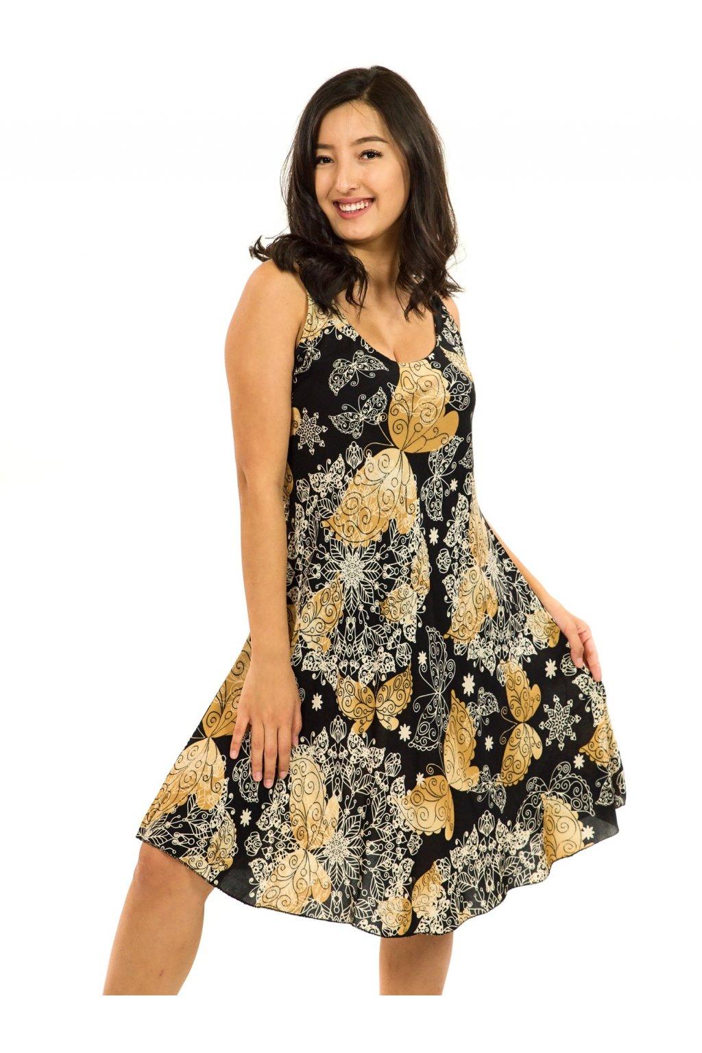 Šaty Ava Butterfly - černá se zlatou