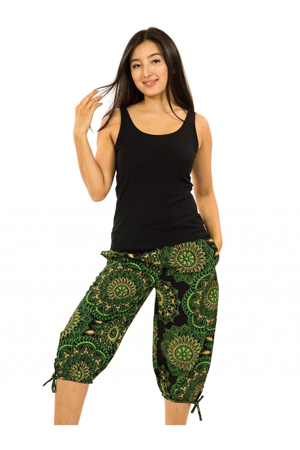 Kraťasy Suri - černá se zelenou