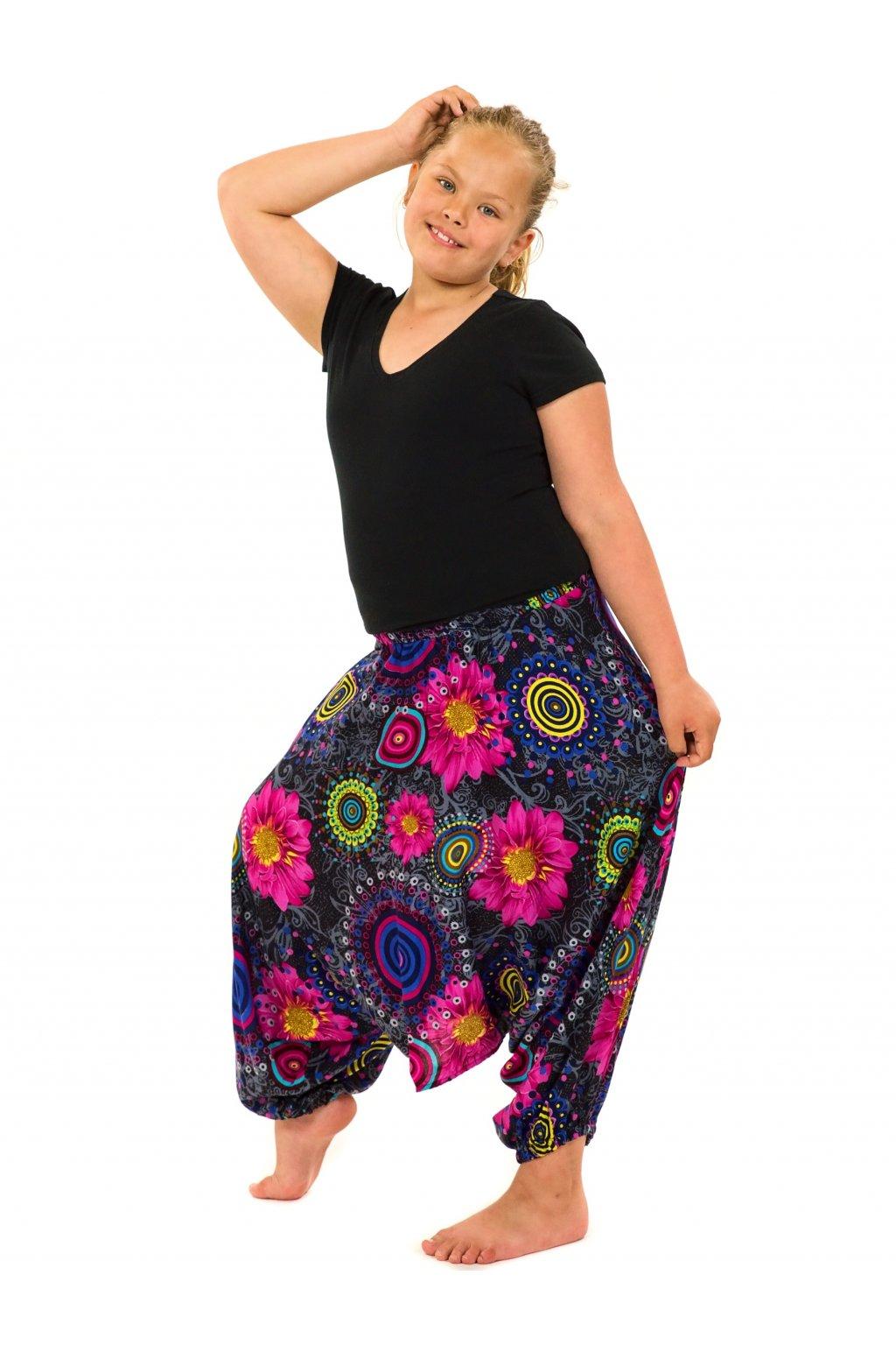 Dětské kalhoty-šaty-top 3v1 Elara - černá