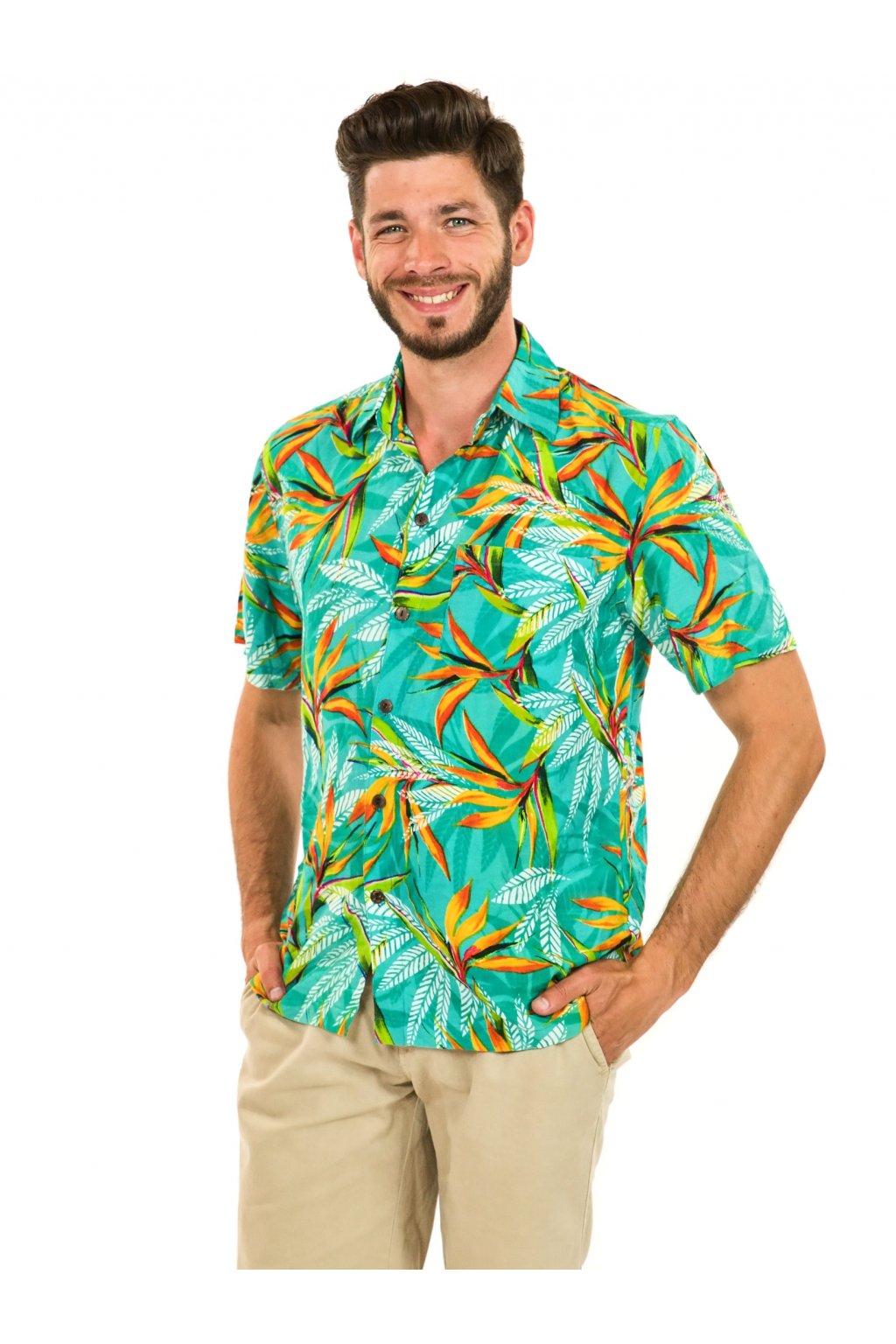 Pánská košile Strelície - tyrkysová
