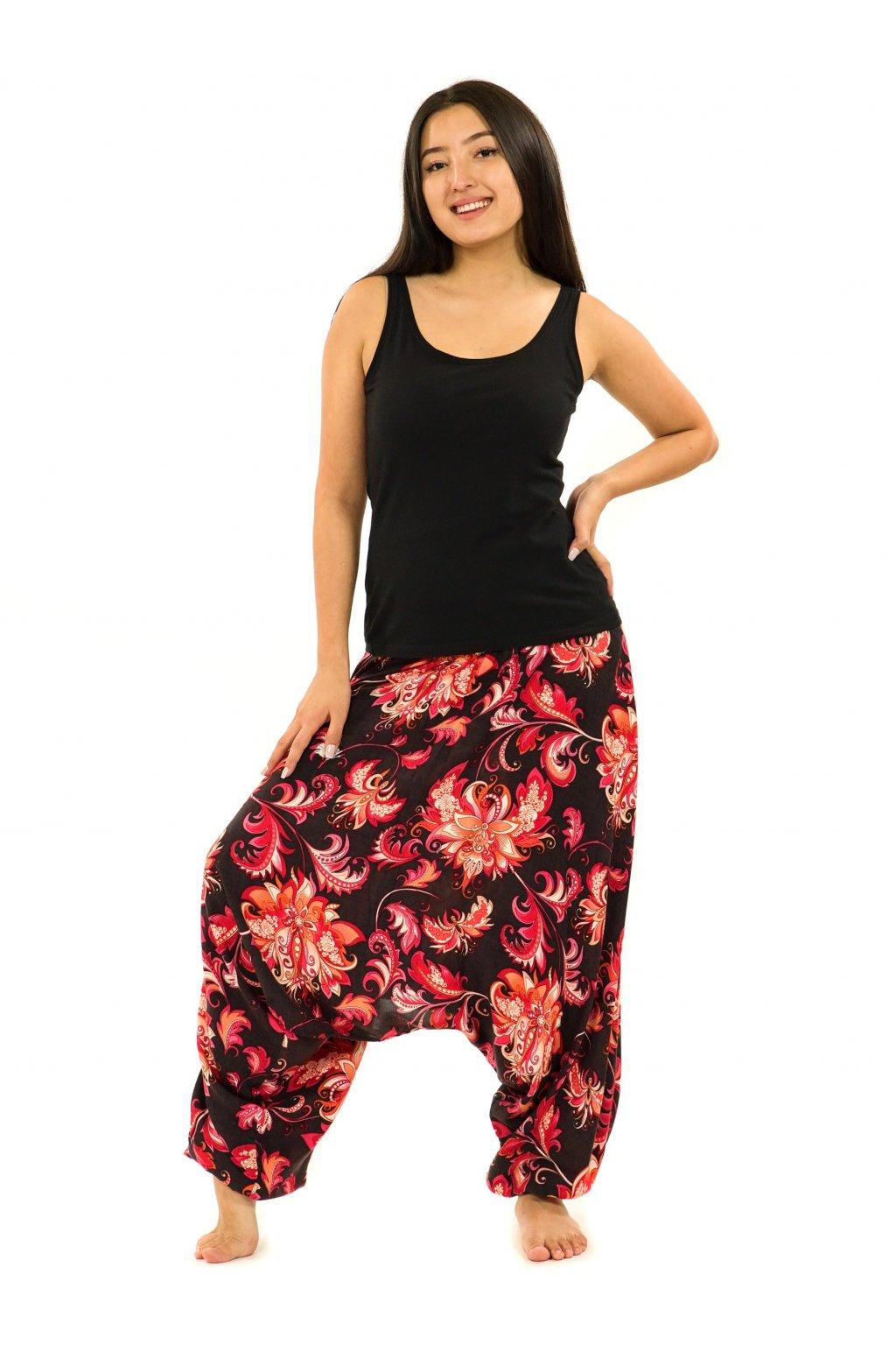 Kalhoty-šaty-top 3v1 Rauna - černé s červenou